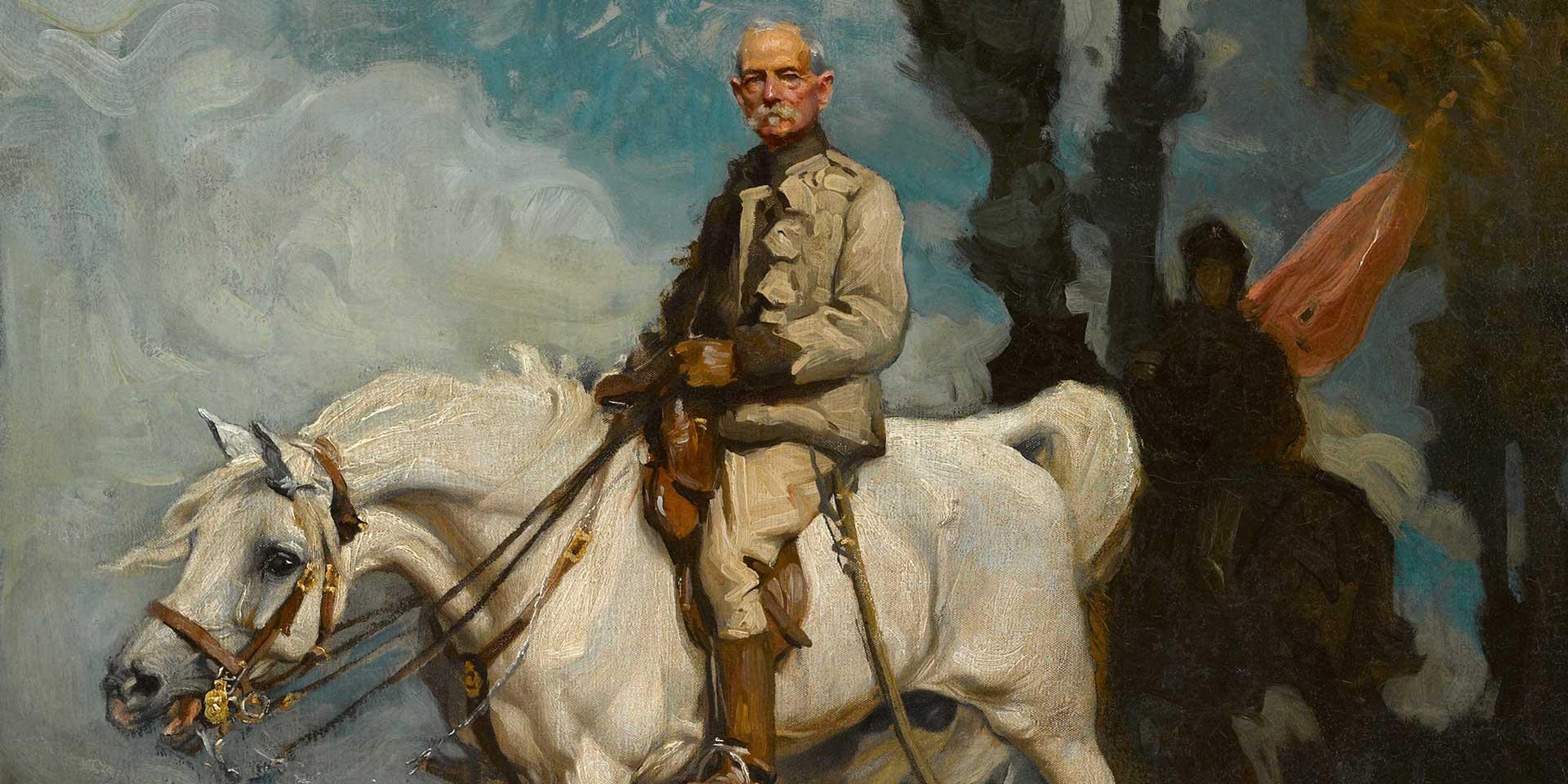 General Sir Frederick Sleigh Roberts on his horse 'Vonolel', 1894