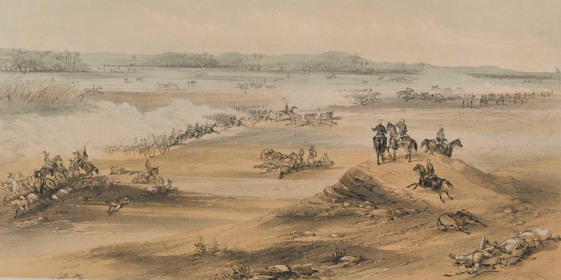 Pursuit of the Gwalior Contingent, by Sir Colin Campbell at Cawnpore, 6 December 1857
