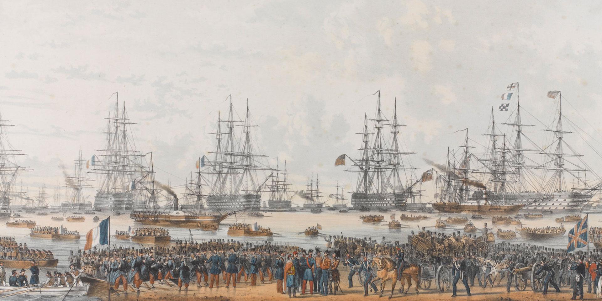 The Allied landing in the Crimea, September 1854