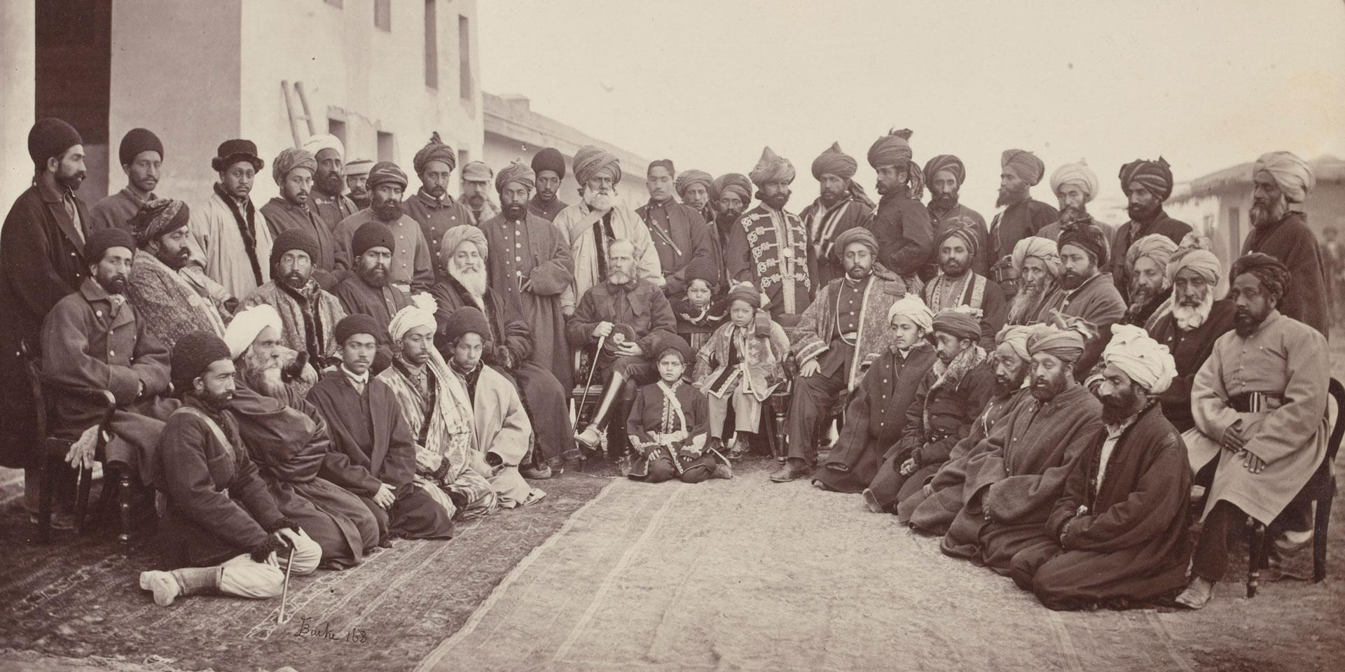 General Frederick Roberts and the sirdars of Kabul, c1879