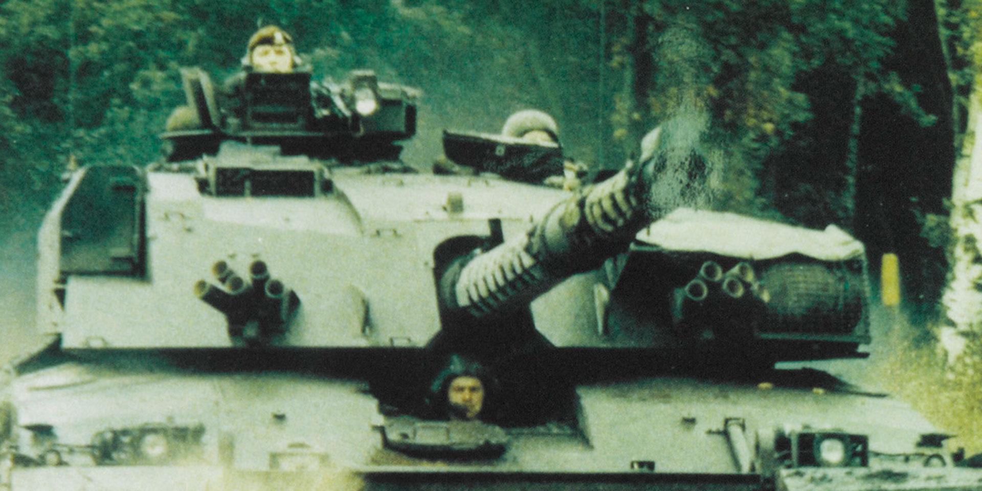 Challenger tank of the Royal Hussars (Prince of Wales's Own), c1992