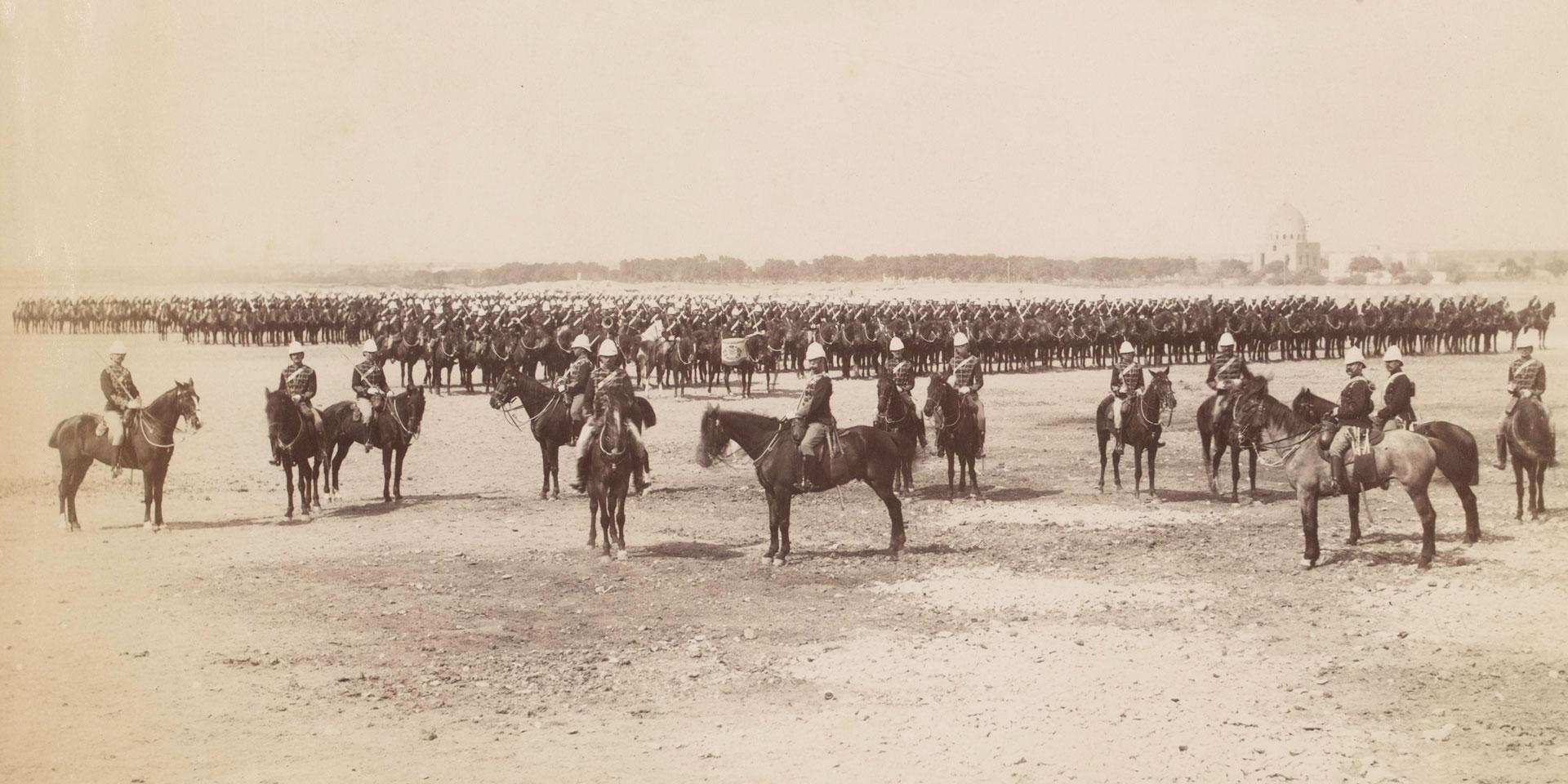 19th Royal Hussars (Queen Alexandra's Own) formed up, 1882