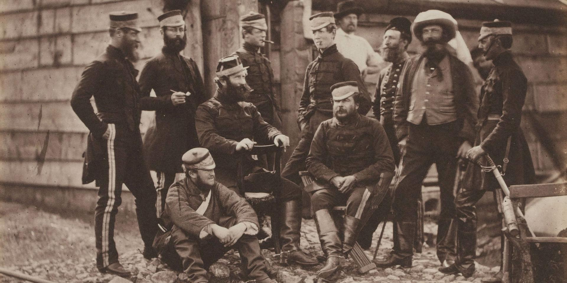 Officers of the 4th (The Queen's Own) Regiment of Light Dragoons in the Crimea, 1855