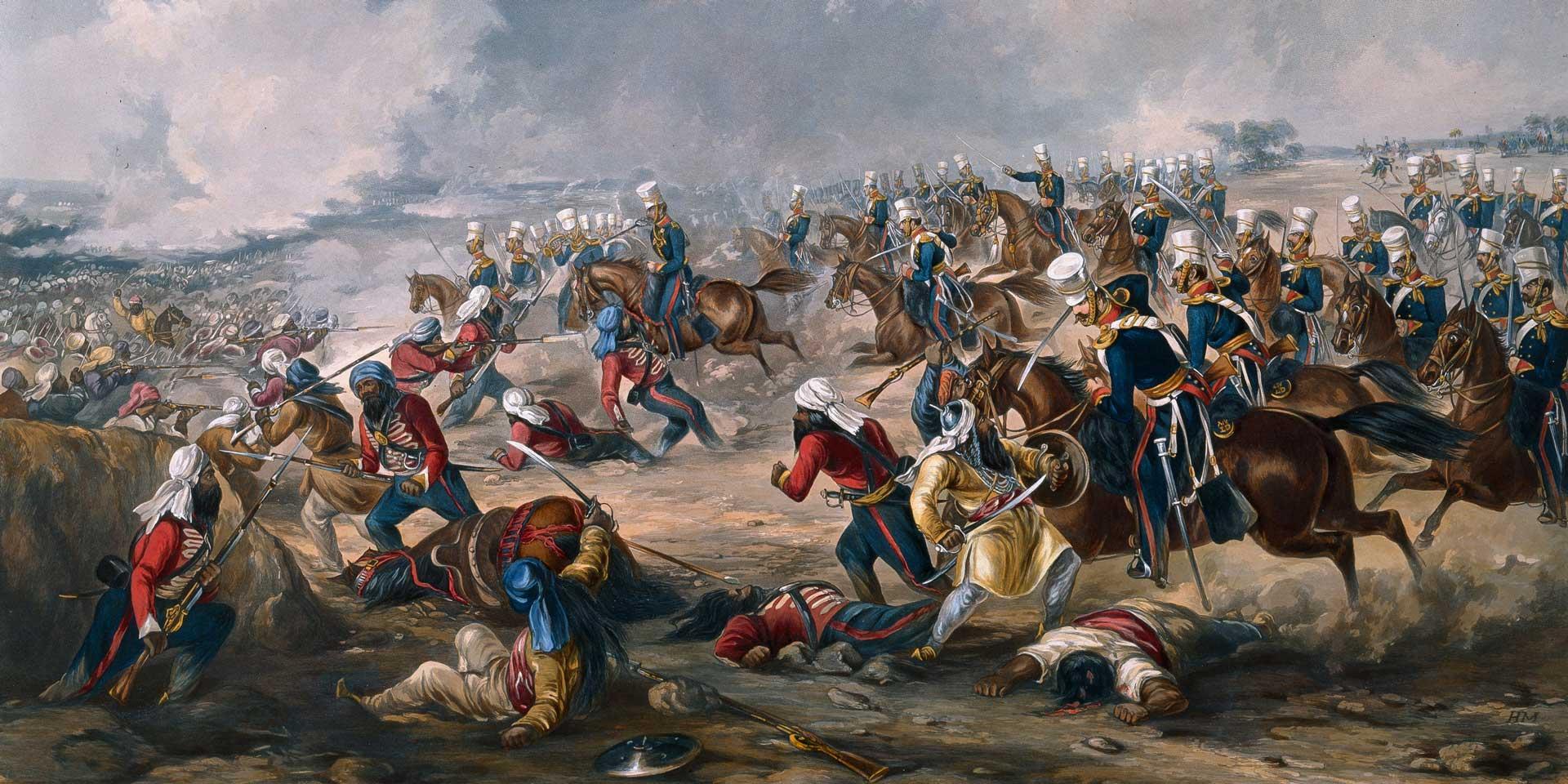 Charge of the 14th Light Dragoons at Ramnagar, 1848