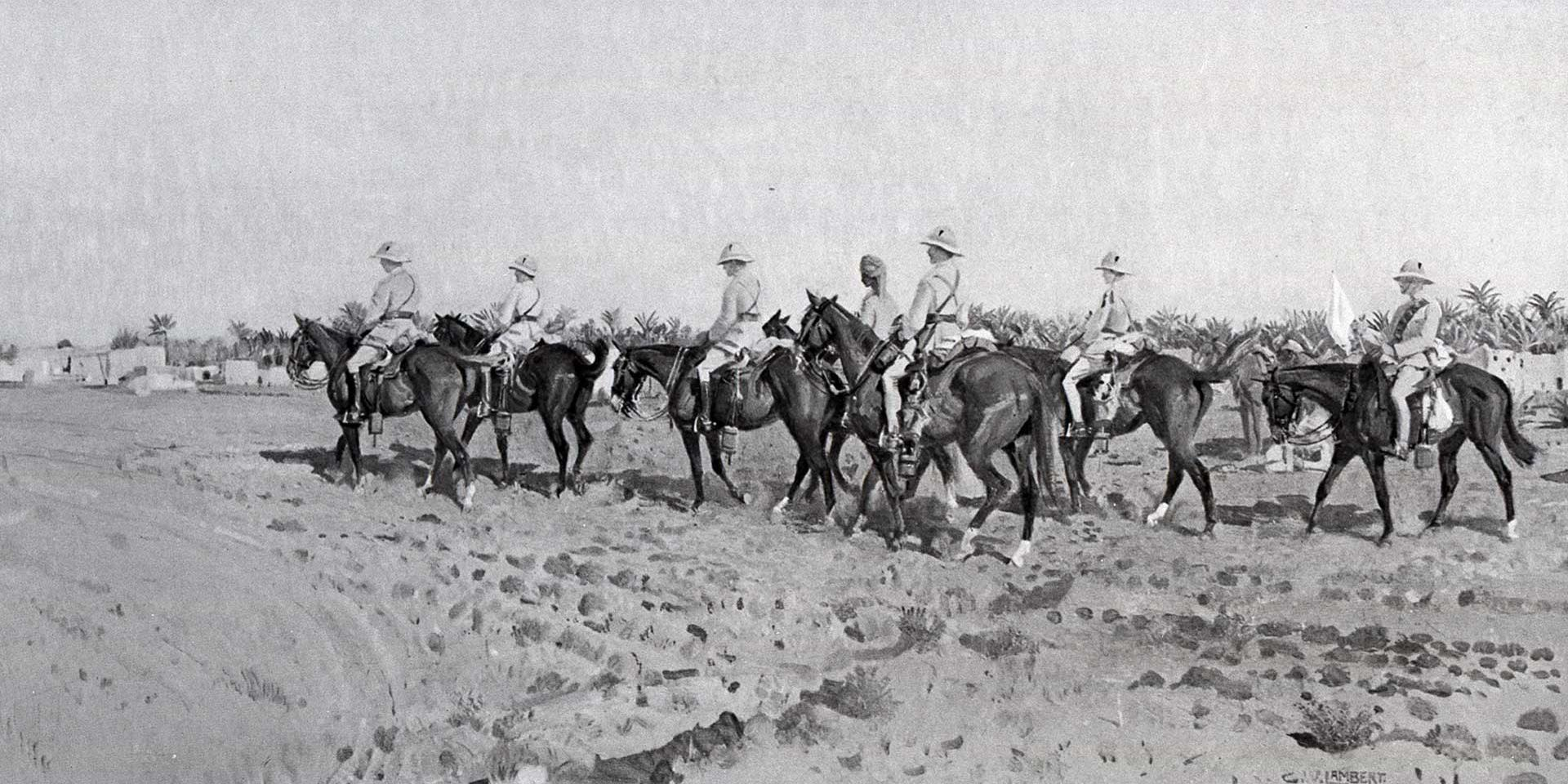 A patrol of the 14th (King's) Hussars in Mesopotamia, 1917
