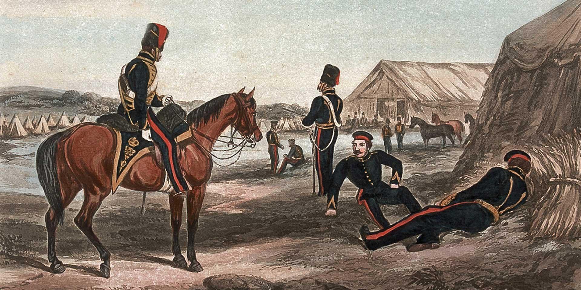 8th (The King's Royal Irish) Regiment of Light Dragoons (Hussars) at Chobham, 1853