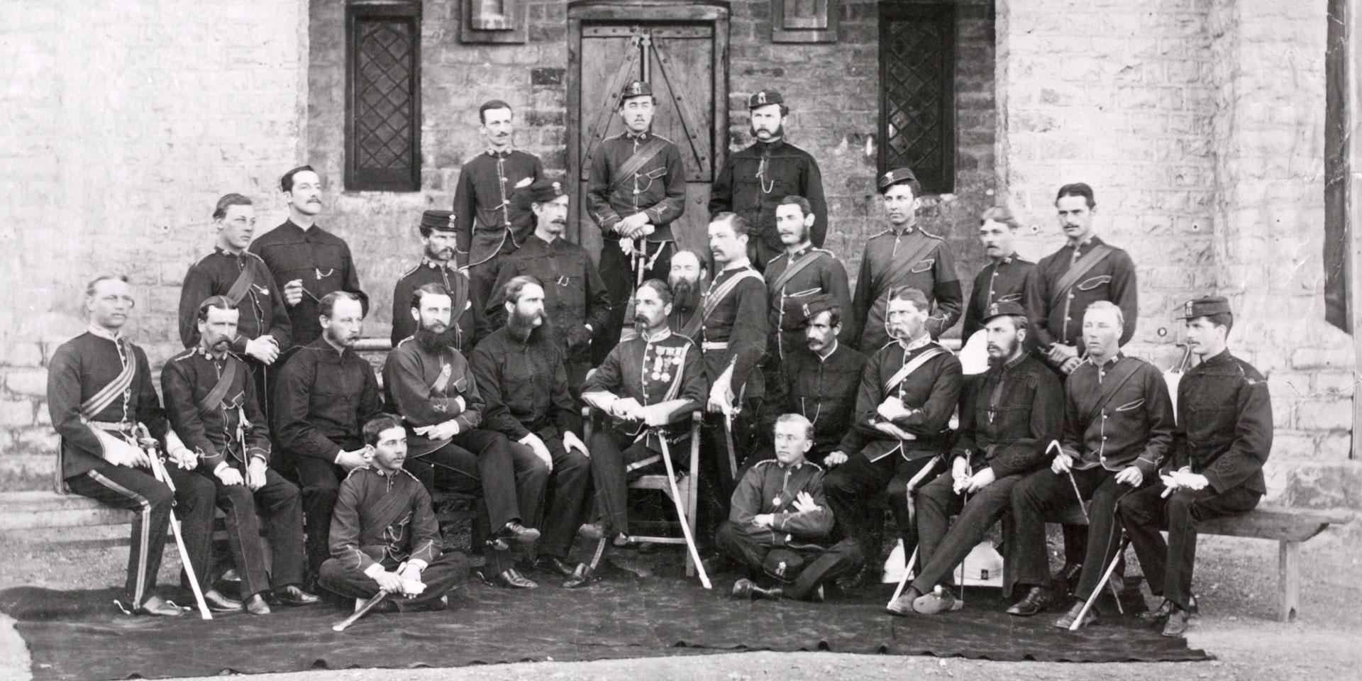 Officers of the 41st Regiment in India, c1870