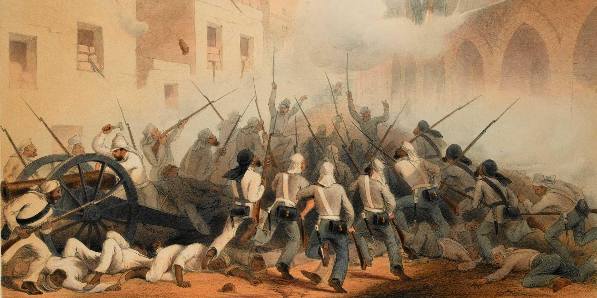 The Bengal Fusiliers at the storming of Delhi, 1857