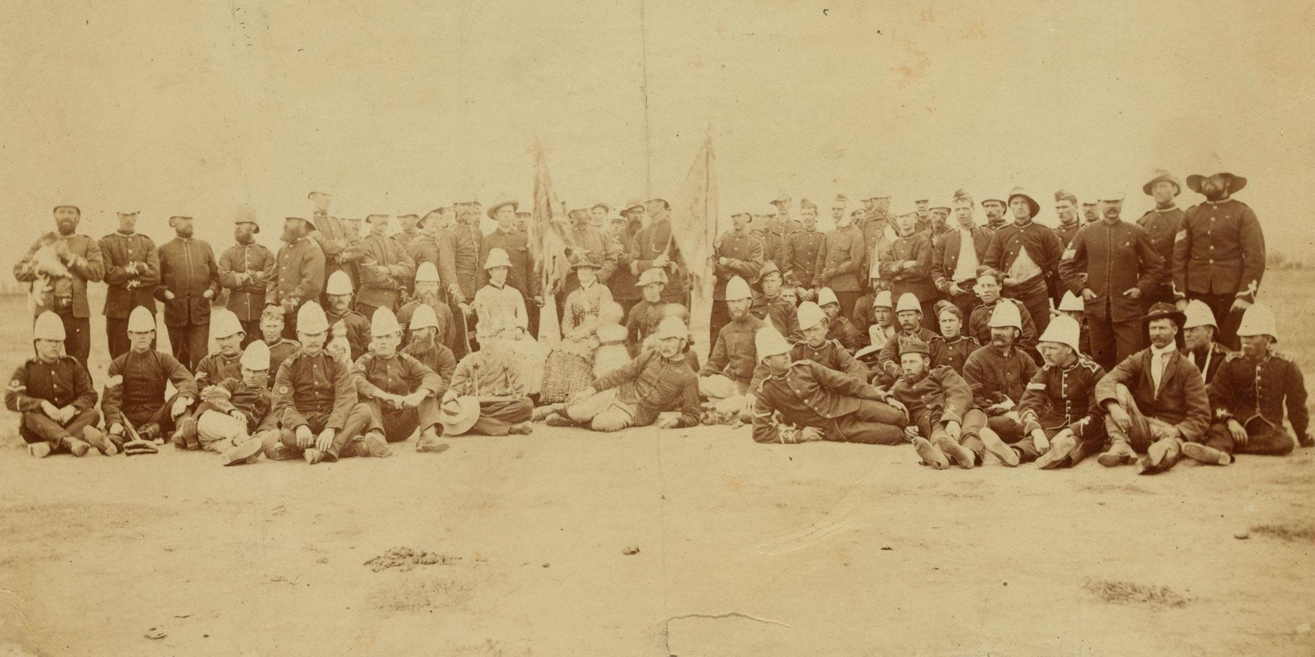 Released prisoners of the 94th Regiment from Bronkhorst Spruit, Pretoria, 1881