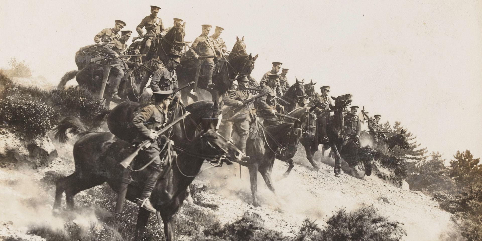 1st Reserve Regiment of Cavalry in training, 1914