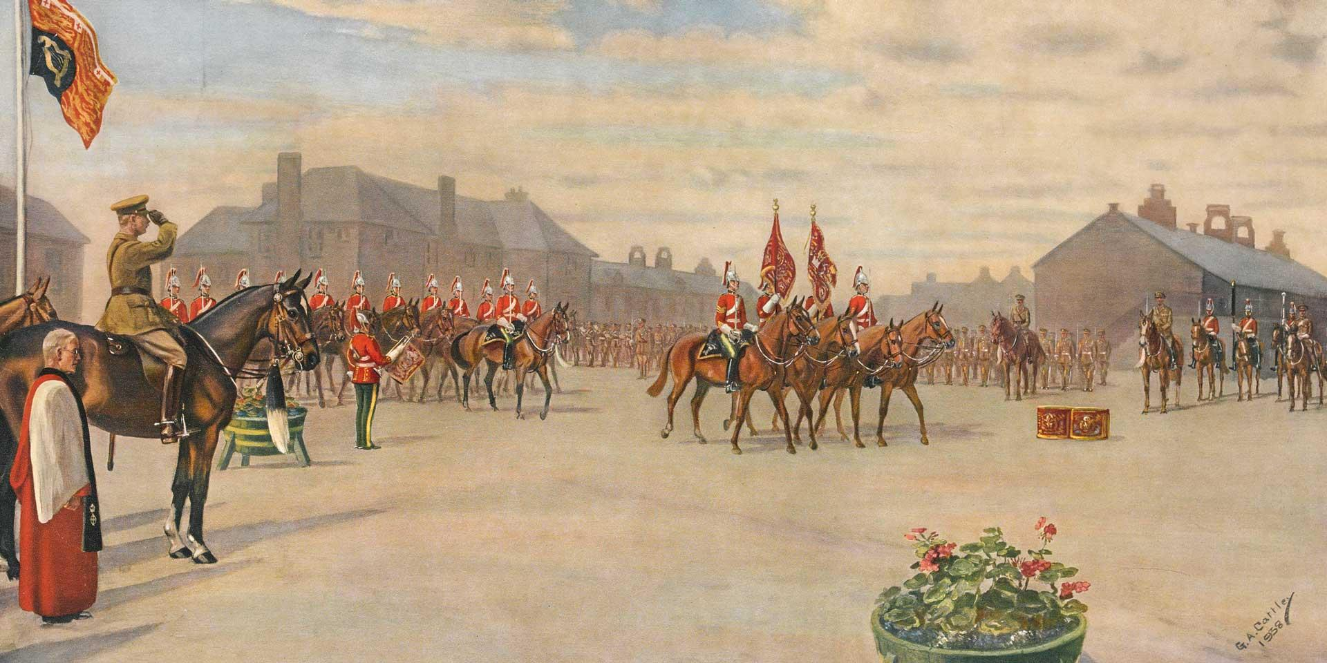 Final mounted parade of the 5th Royal Inniskilling Dragoon Guards, 1938