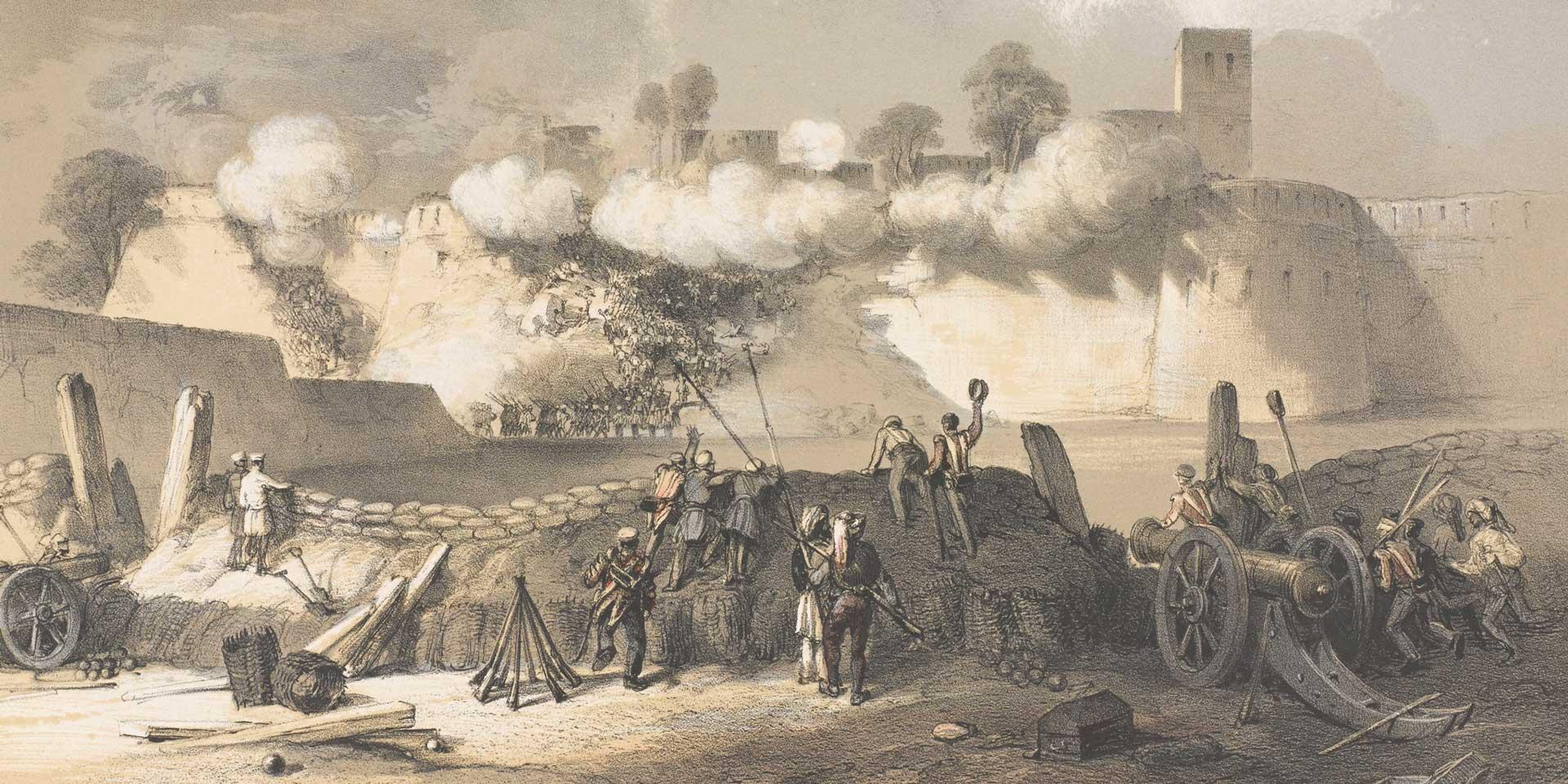 1st Bombay (European) Fusiliers storming the breach at Multan, 1849
