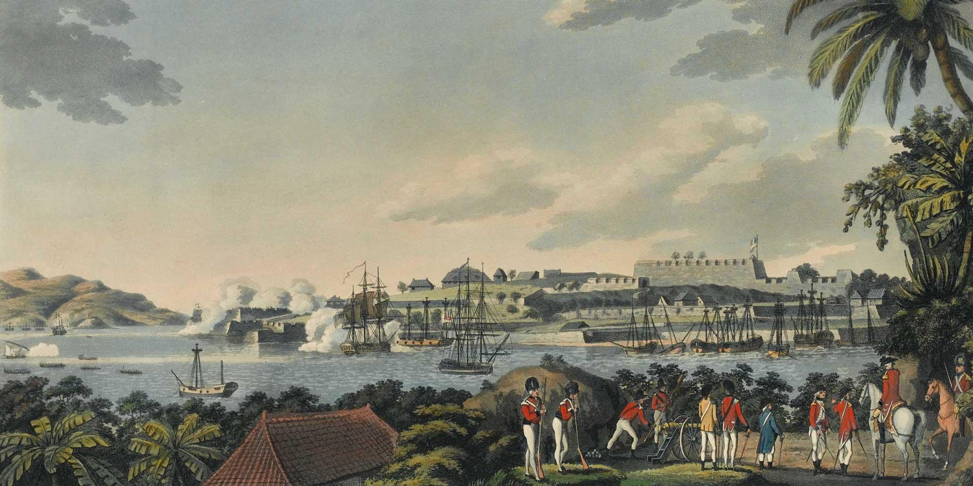 British troops at Fort Louis on Martinique, 1794