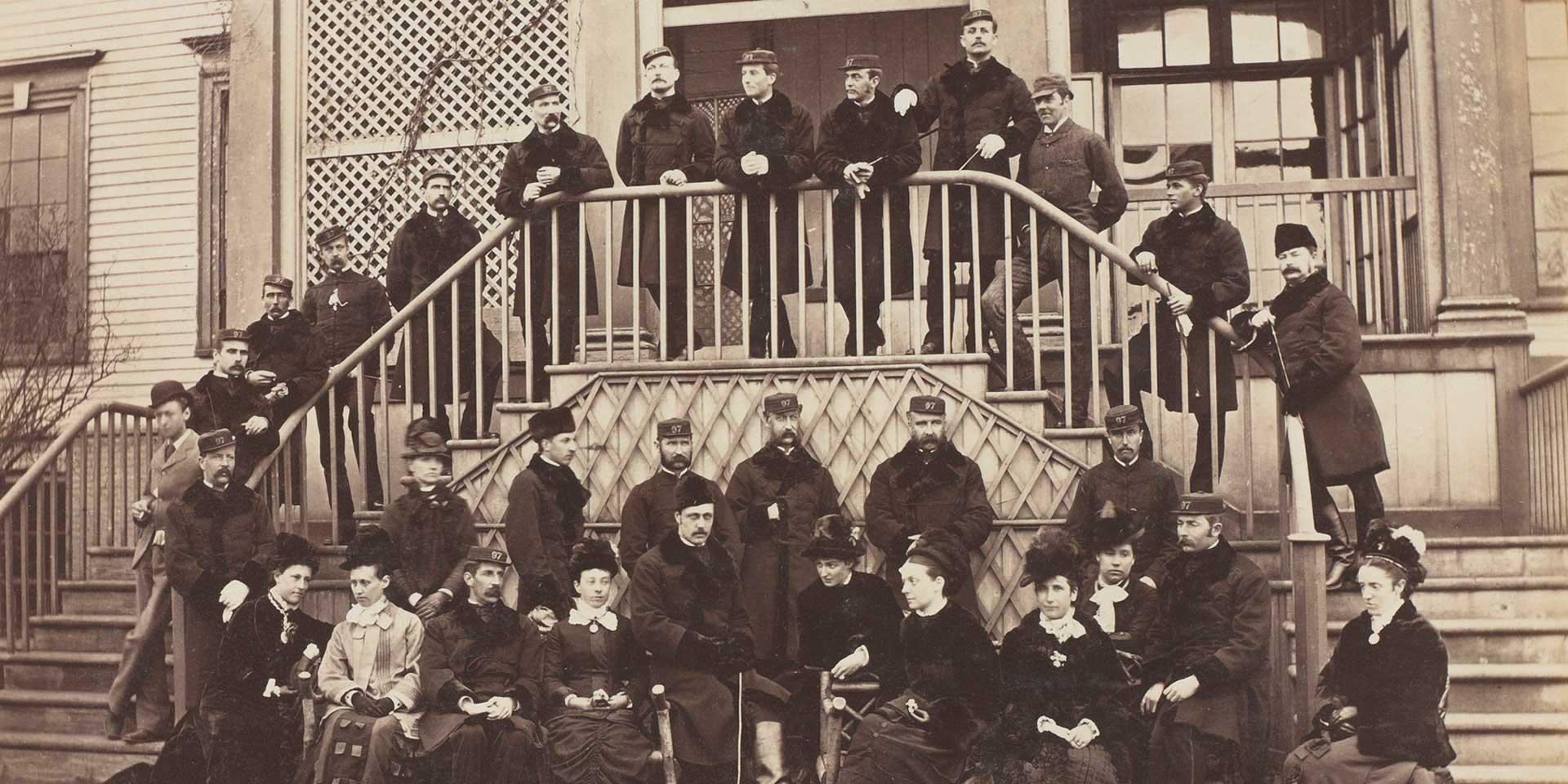 Officers of the 97th Regiment at Halifax, Nova Scotia, c1880