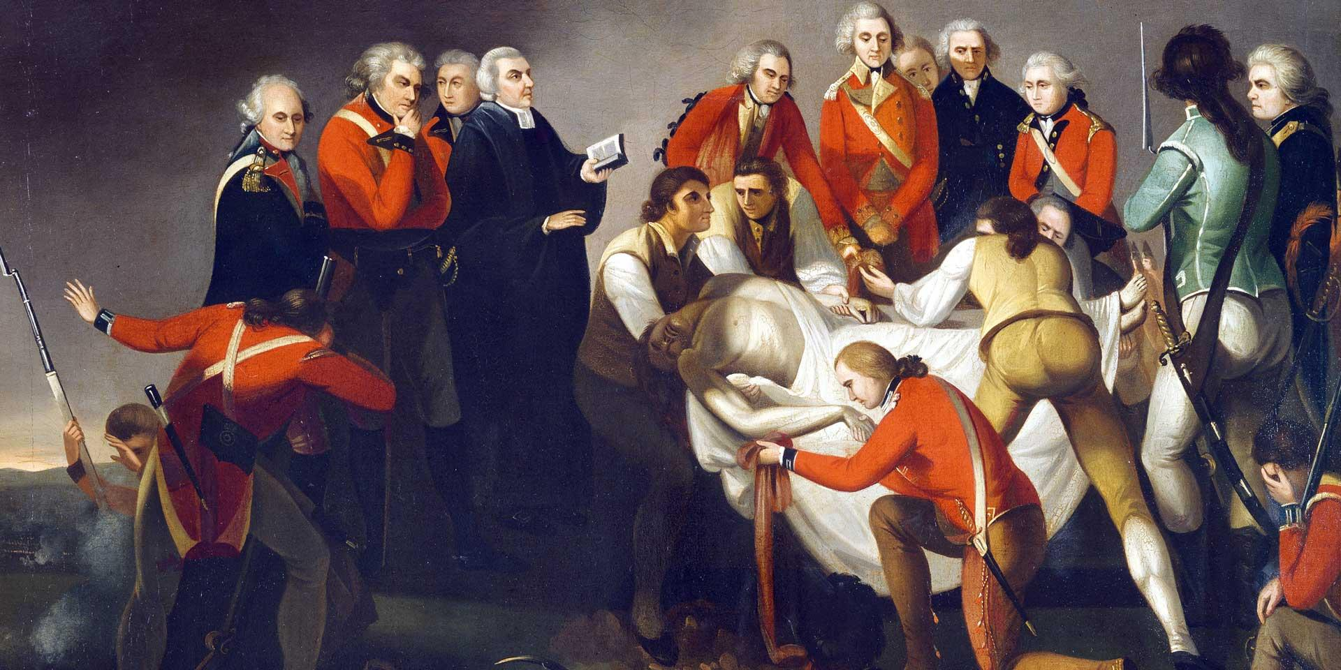 The burial of General Simon Fraser after the Battle of Saratoga, 1777