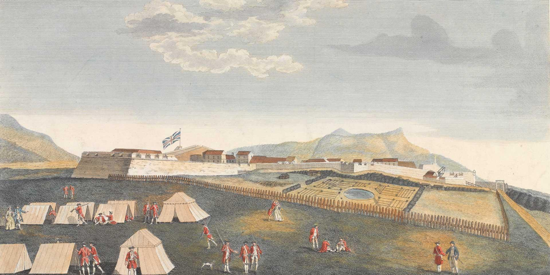 British troops at Fort Royal, Guadeloupe, 1759