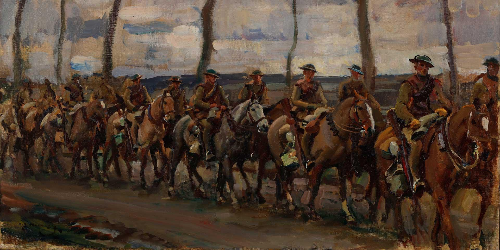 Fort Garry Horse on the march, 1918
