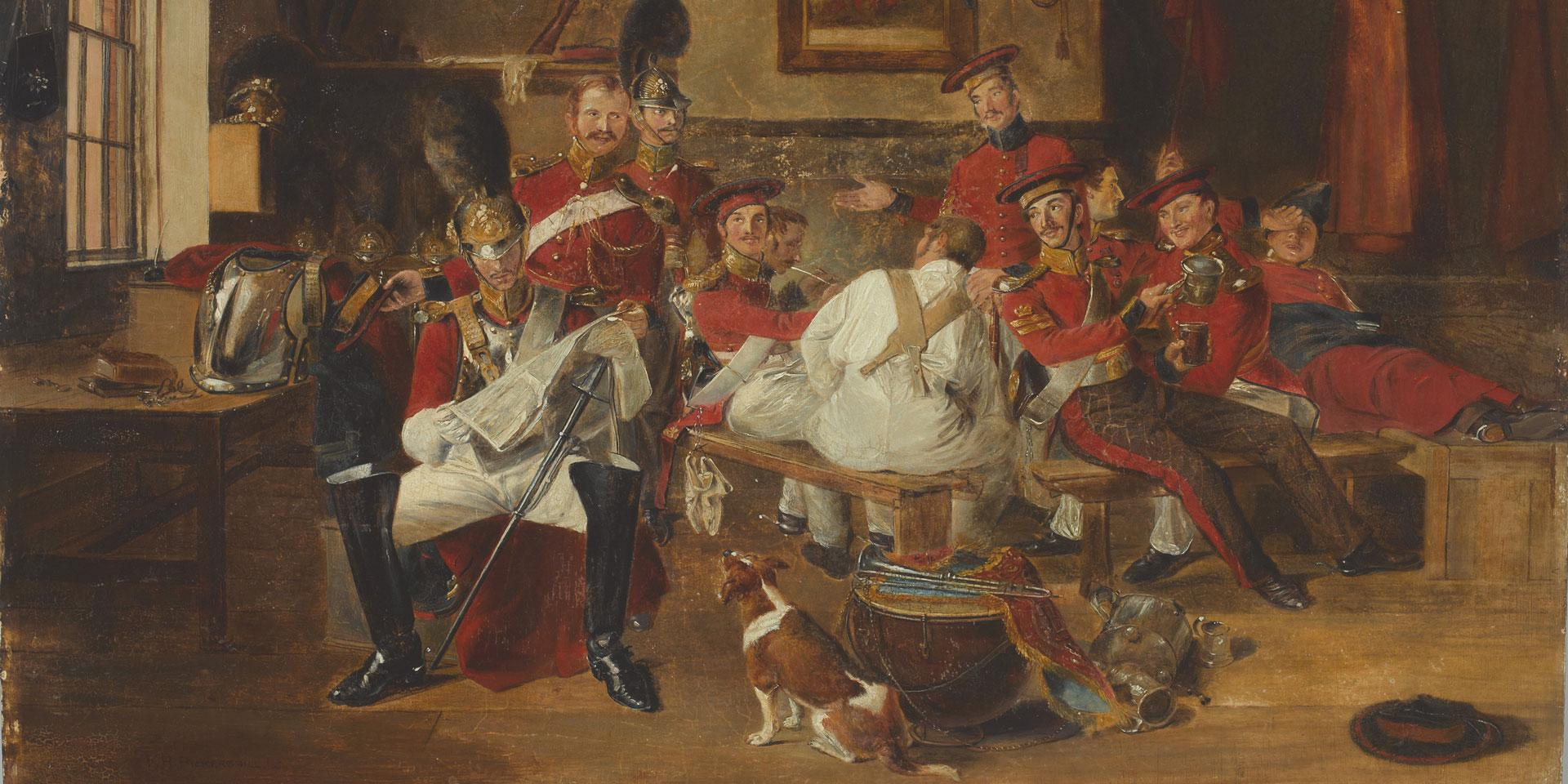 Guard Room, 2nd Life Guards, c1828