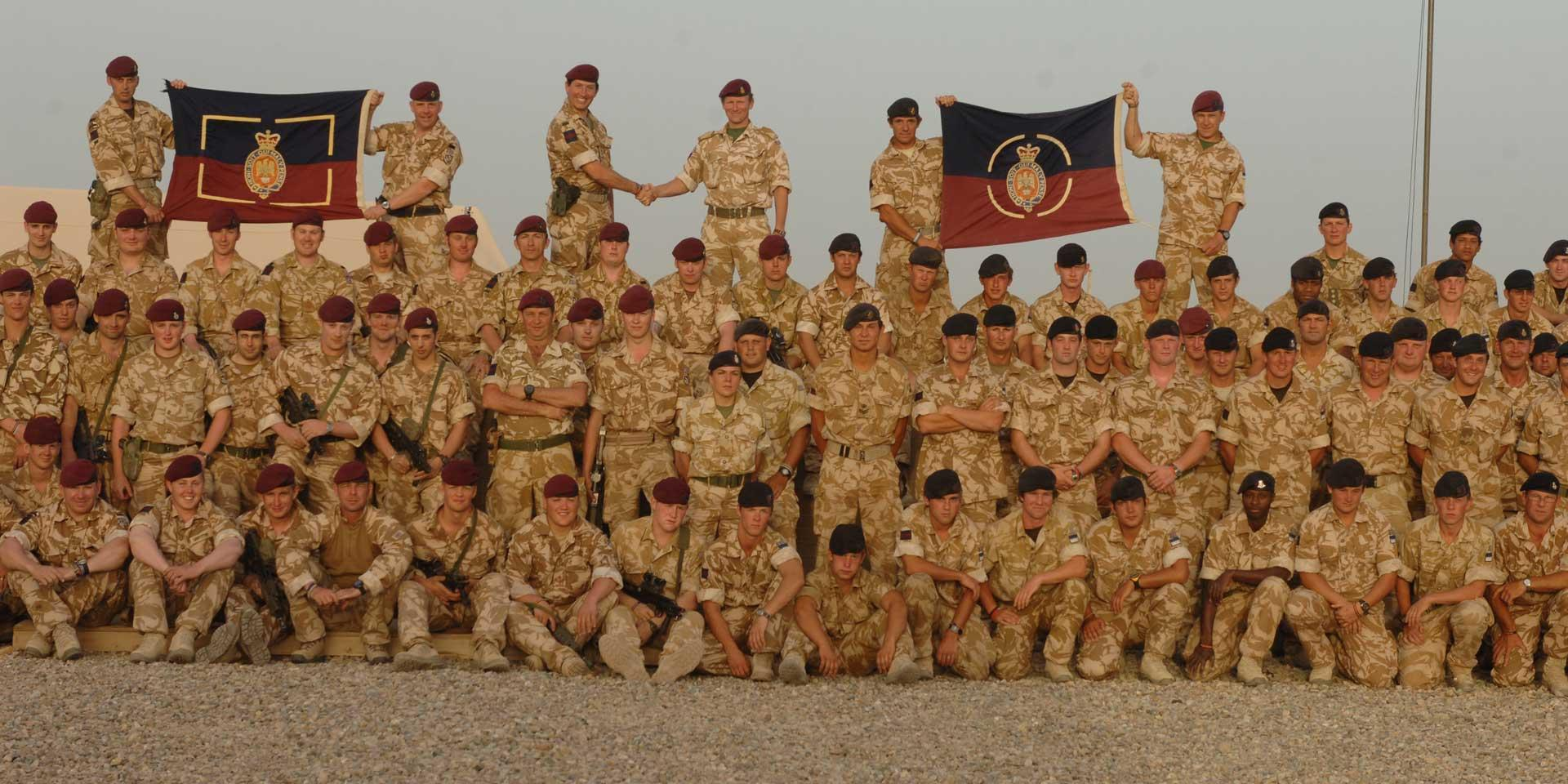 Members of The Blues and Royals (Royal Horse Guards and 1st Dragoons), Household Cavalry Regiment, Camp Bastion, Helmand Province, 2008