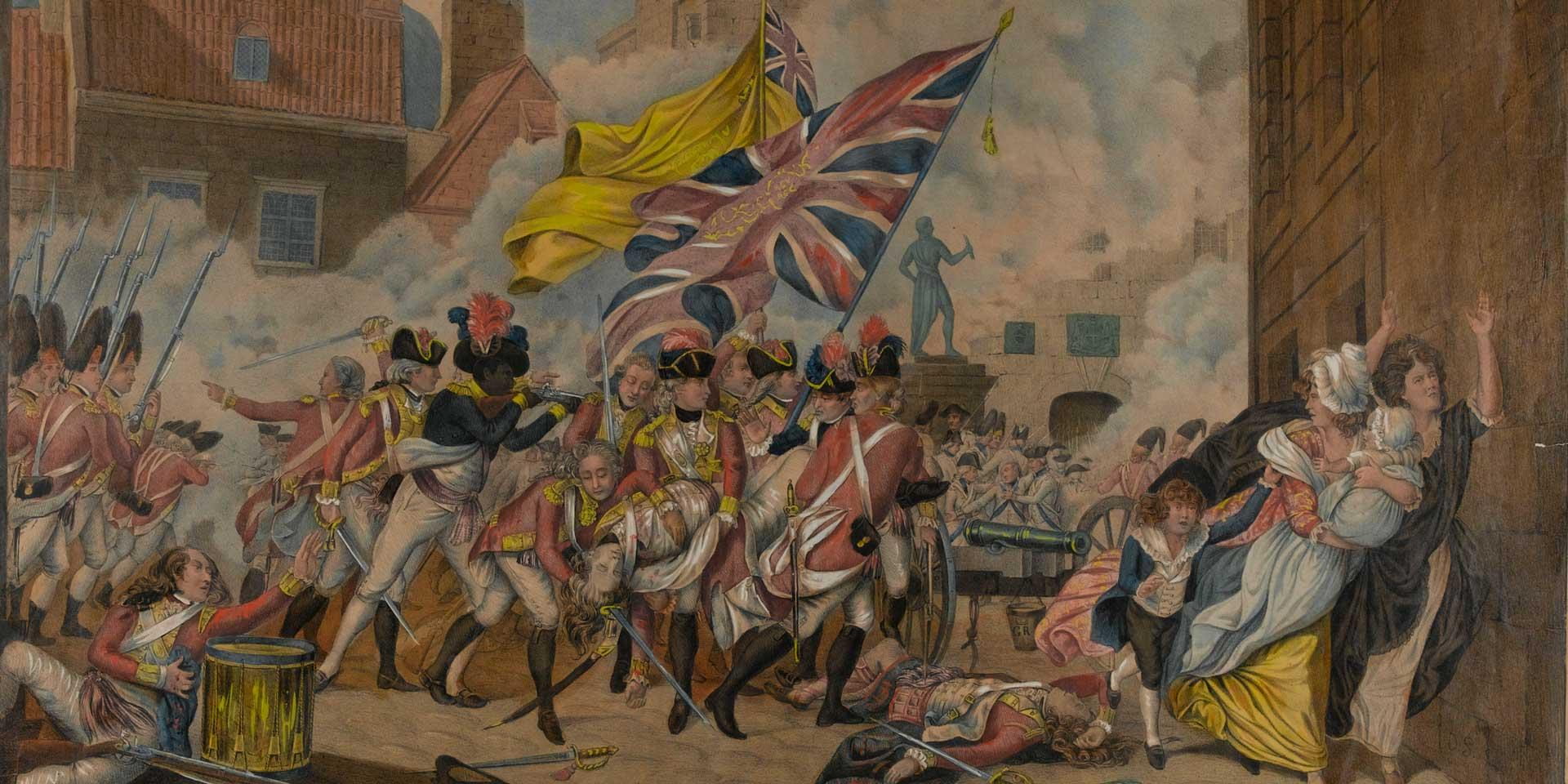 The death of Major Pierson and defeat of the French troops in Jersey, 1781