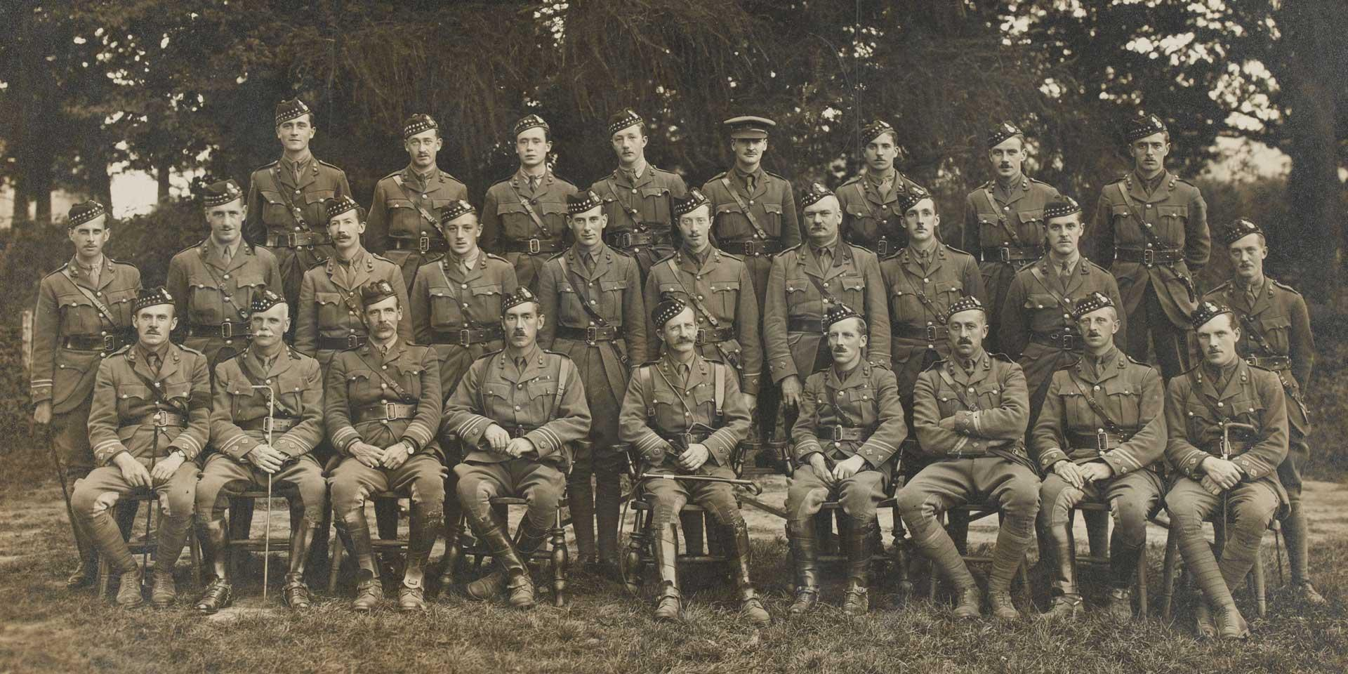 Officers of 8th (Service) Battalion, The Royal Scots Fusiliers, 1915