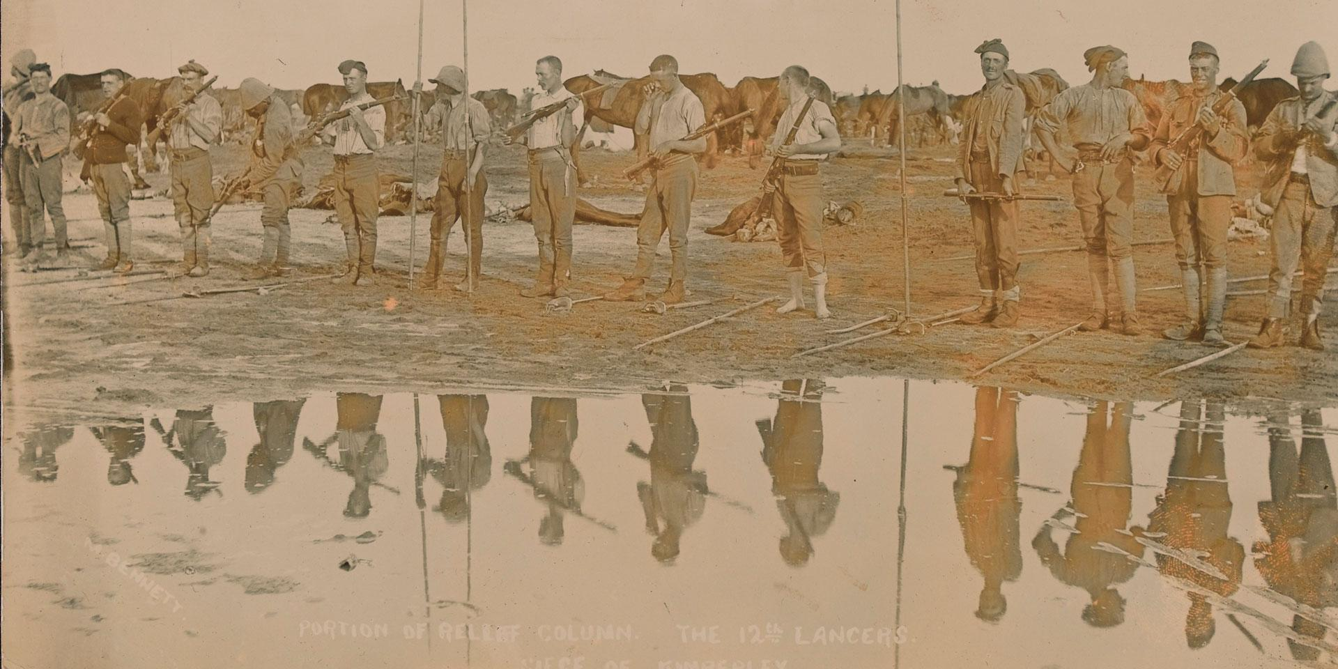 Members of the 12th Royal Lancers, Relief of Kimberley, 1900