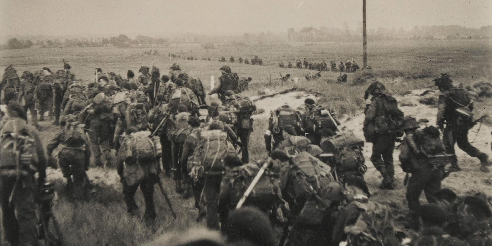 'Special Service troops fight their way inland from French beaches', June 1944