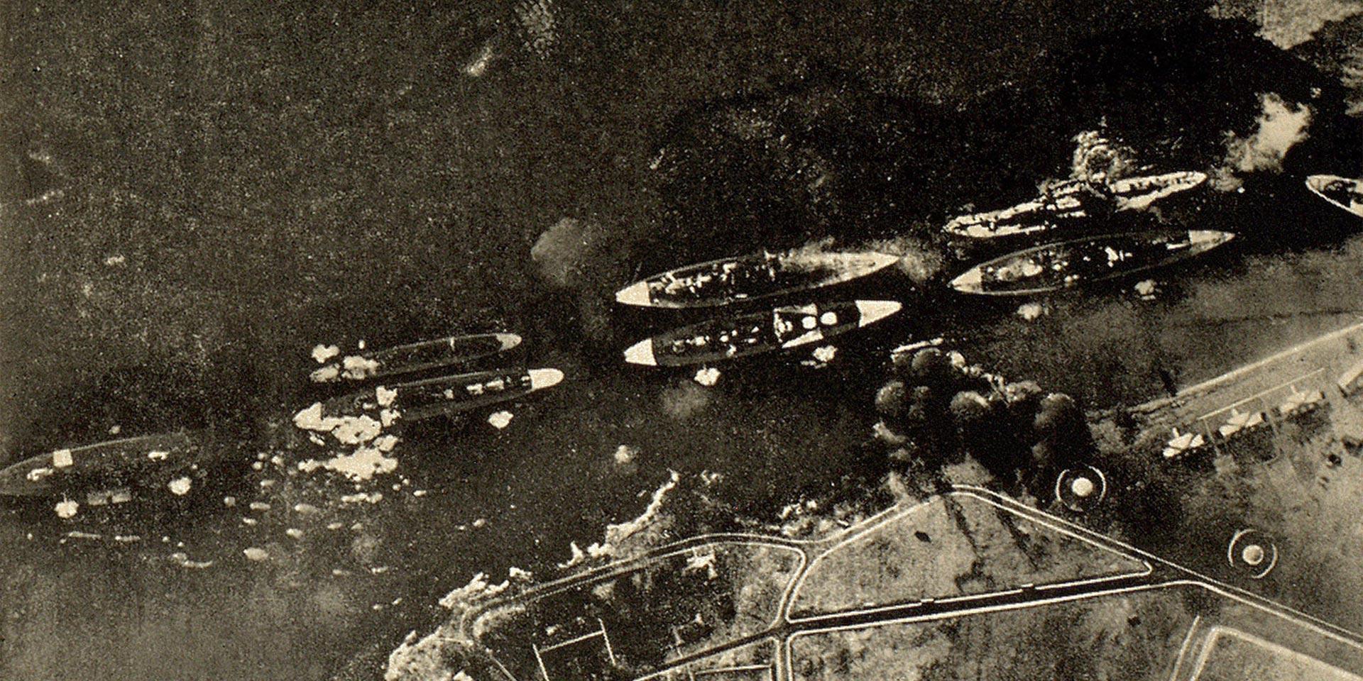 Pearl Harbour under attack, 7 December 1941