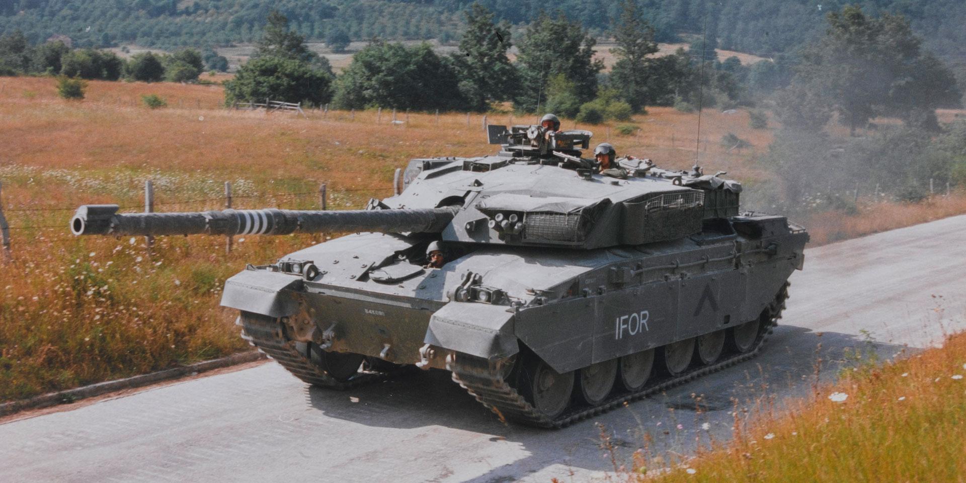 A Challenger 1 tank in Bosnia, c1997