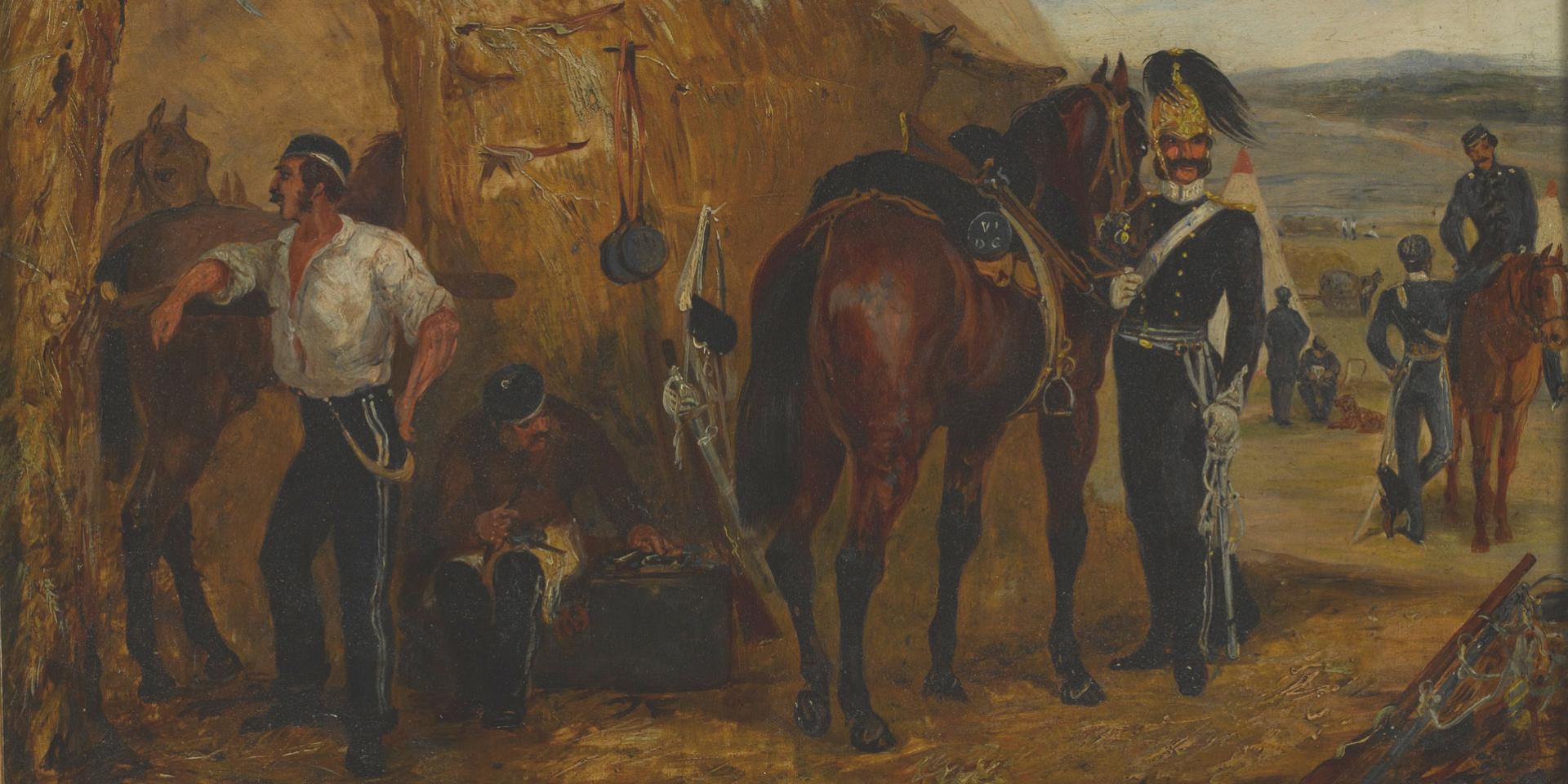 The 6th Dragoon Guards at Chobham Camp, 1853
