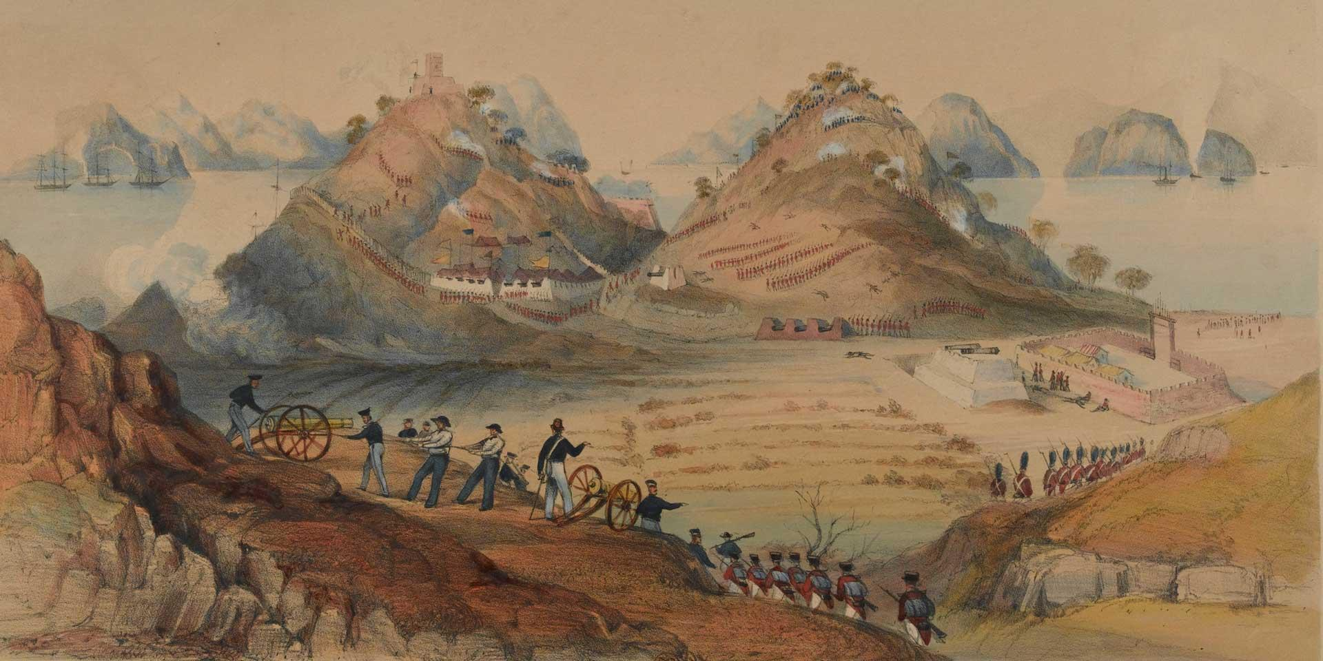 The 26th (Cameronian) Regiment at the storming of Chuenpi, 1841