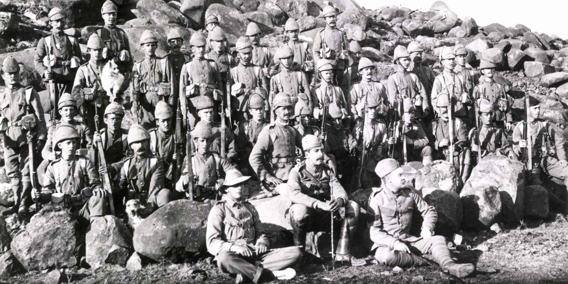 Soldiers of The Cameronians (Scottish Rifles) in South Africa, c1901