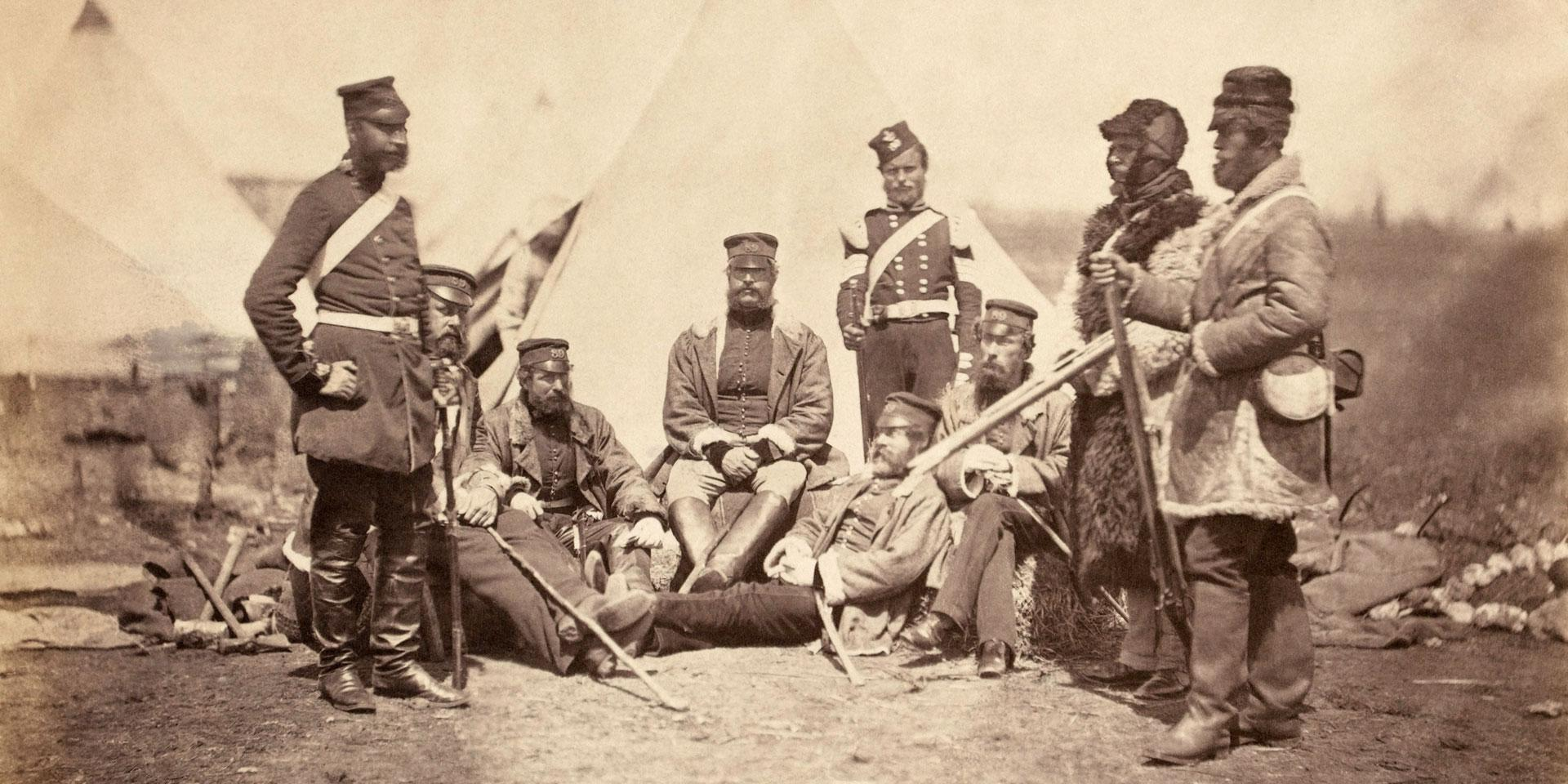 Officers and men of the 89th Regiment in the Crimea, 1855
