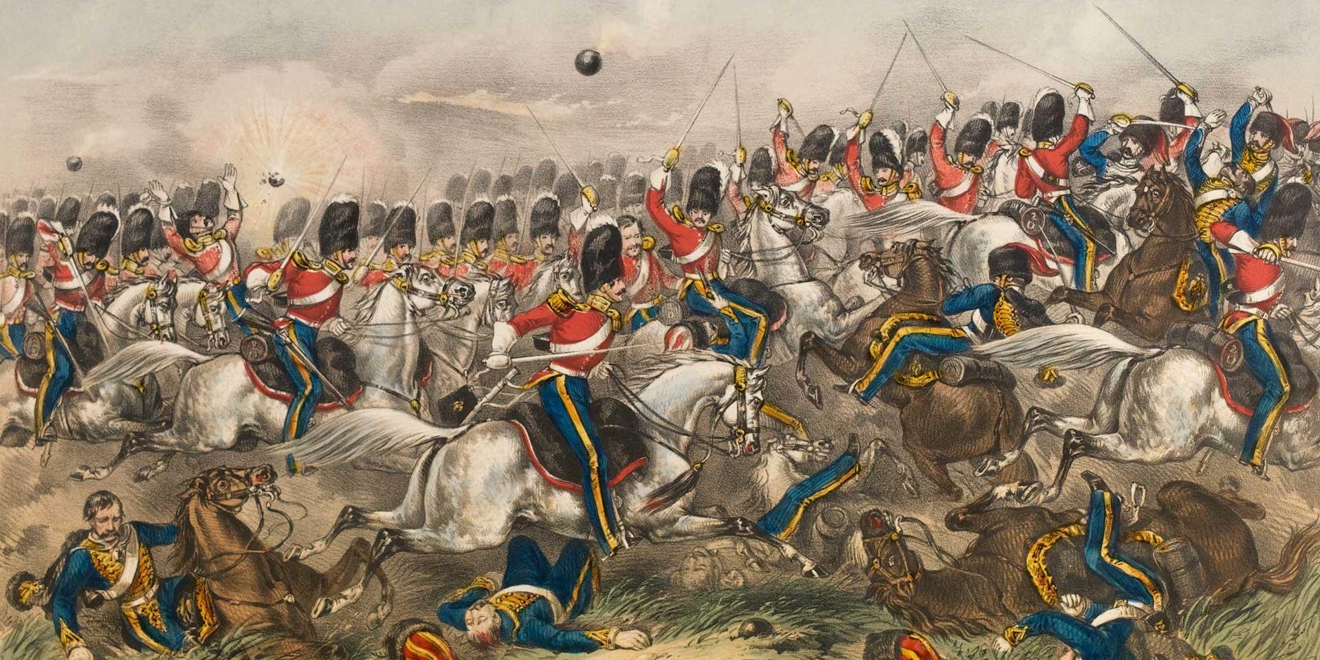 The Royal Scots Greys charging with the Heavy brigade at Balaklava, 1854