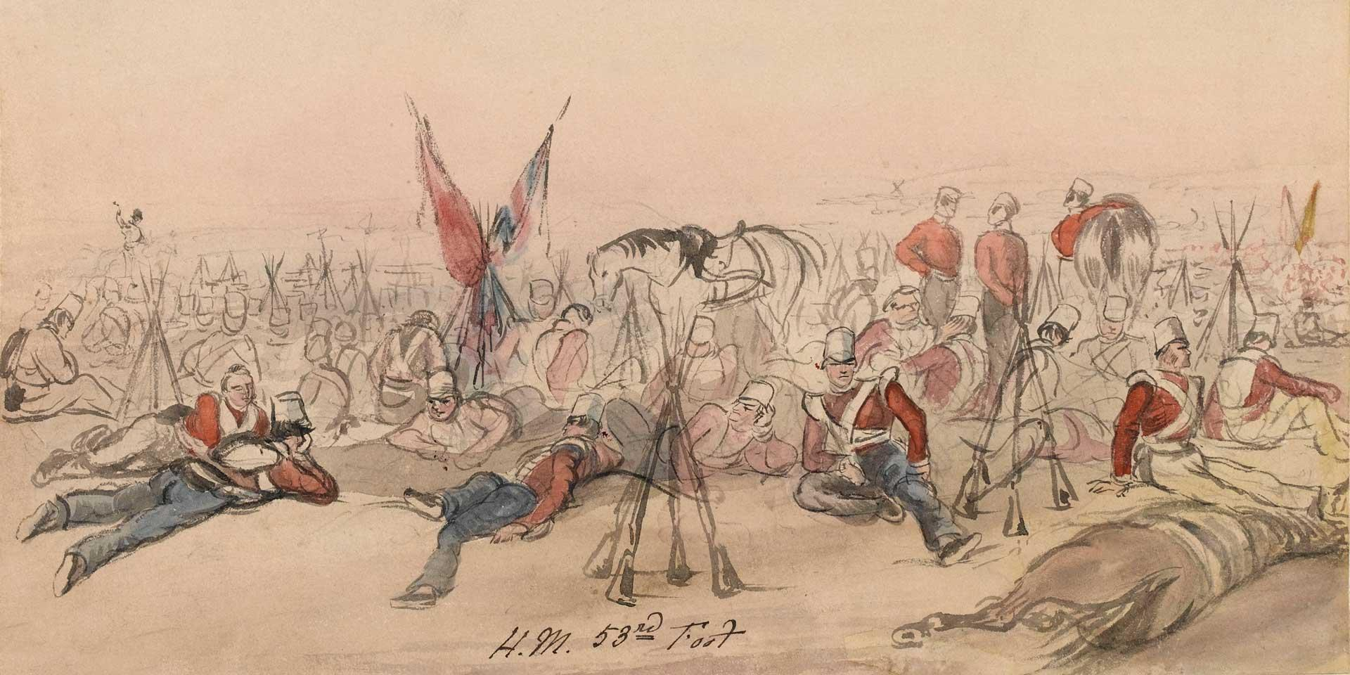 Members of the 53rd (Shropshire) Regiment of Foot, First Sikh War, c1846