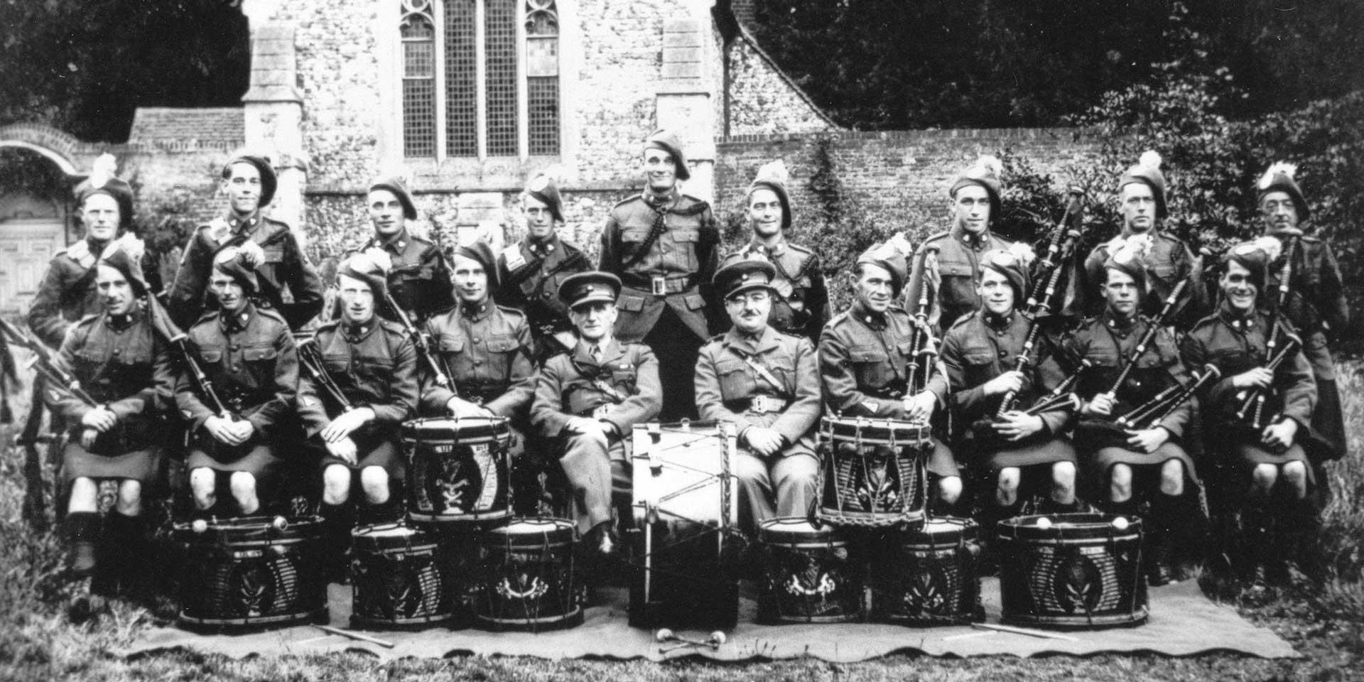 Bandsmen of The Royal Ulster Rifles, c1941