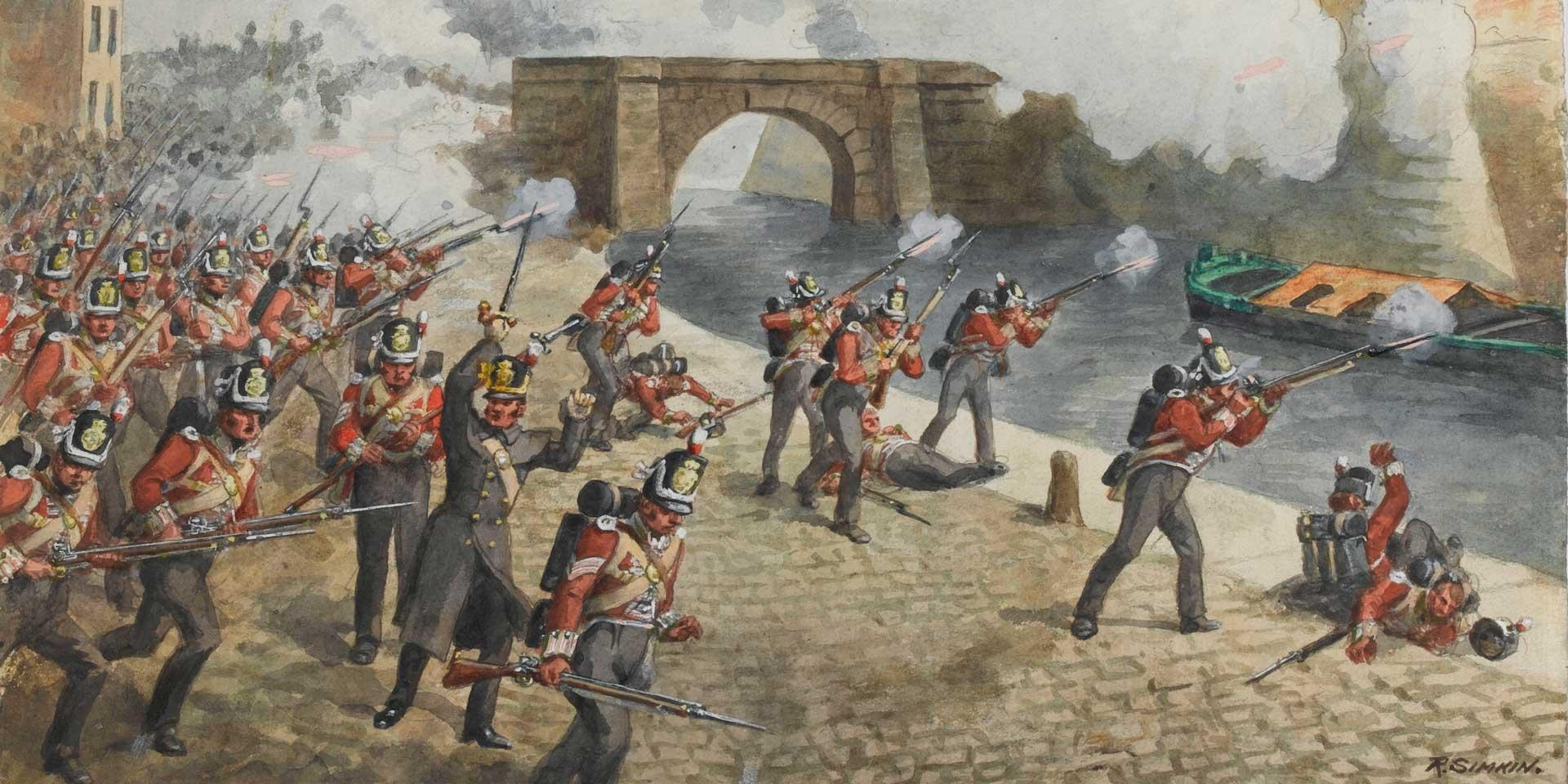 The 27th (Inniskilling) Regiment of Foot at Toulouse, April 1814