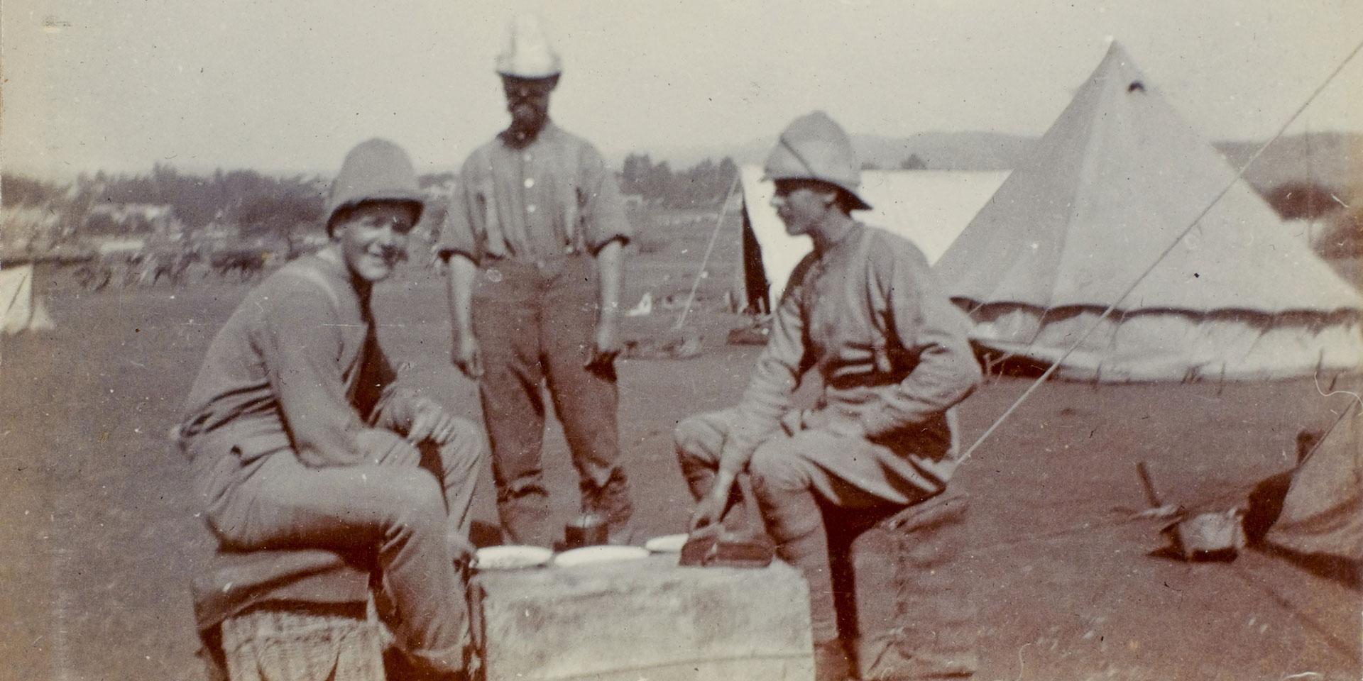 Officers of 2nd Battalion The Princess Charlotte of Wales's (Royal Berkshire Regiment), Pretoria, 1900