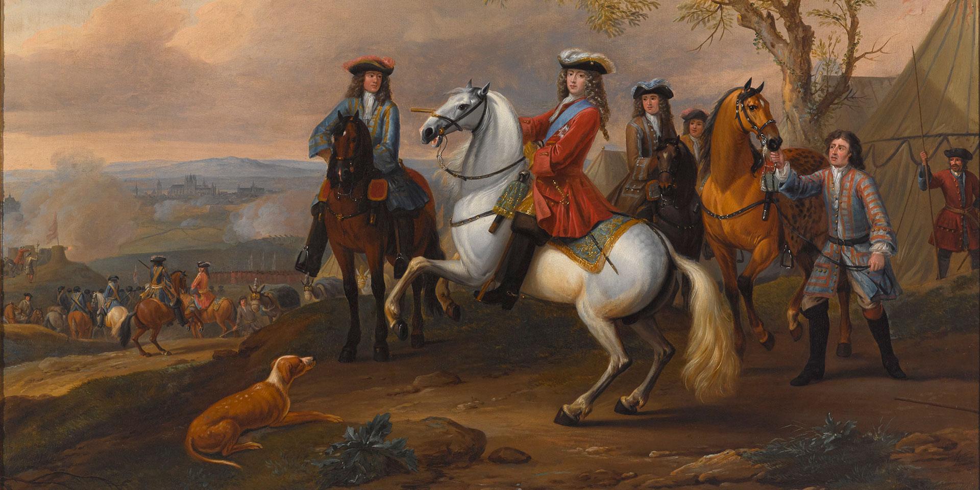 The Duke of Marlborough at the Siege of Tournai, 1709