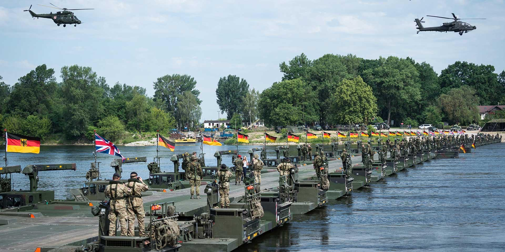 British, German and other NATO allies take part in Exercise Anakonda, 2016