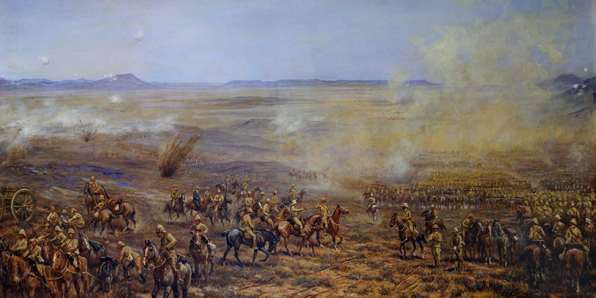 The advance of Lieutenant-General John French's Cavalry Brigade to relieve Kimberley, 13 February 1900
