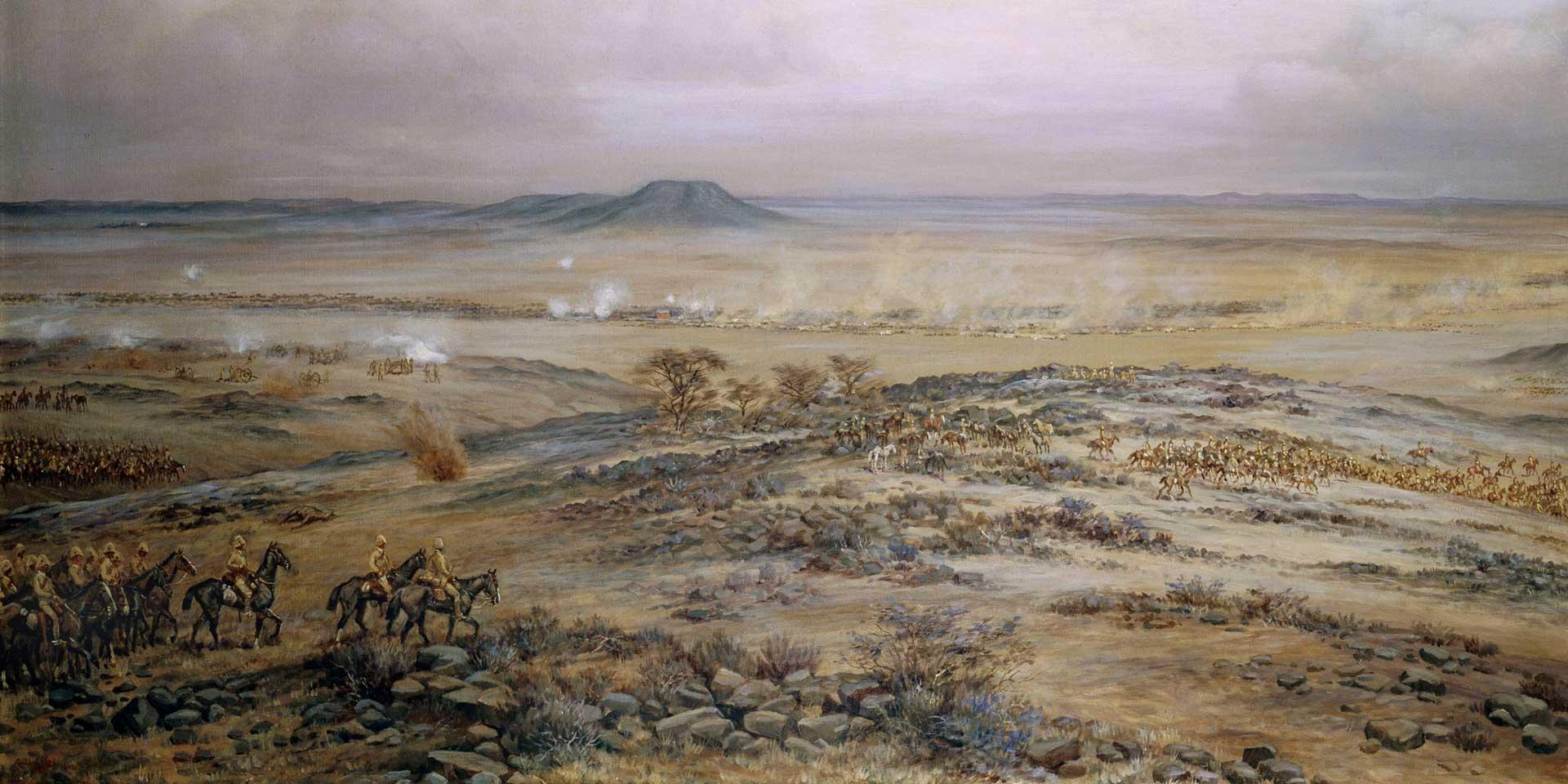 The attack on General Piet Cronje's force at Vedute Drift near Paardeberg, February 1900