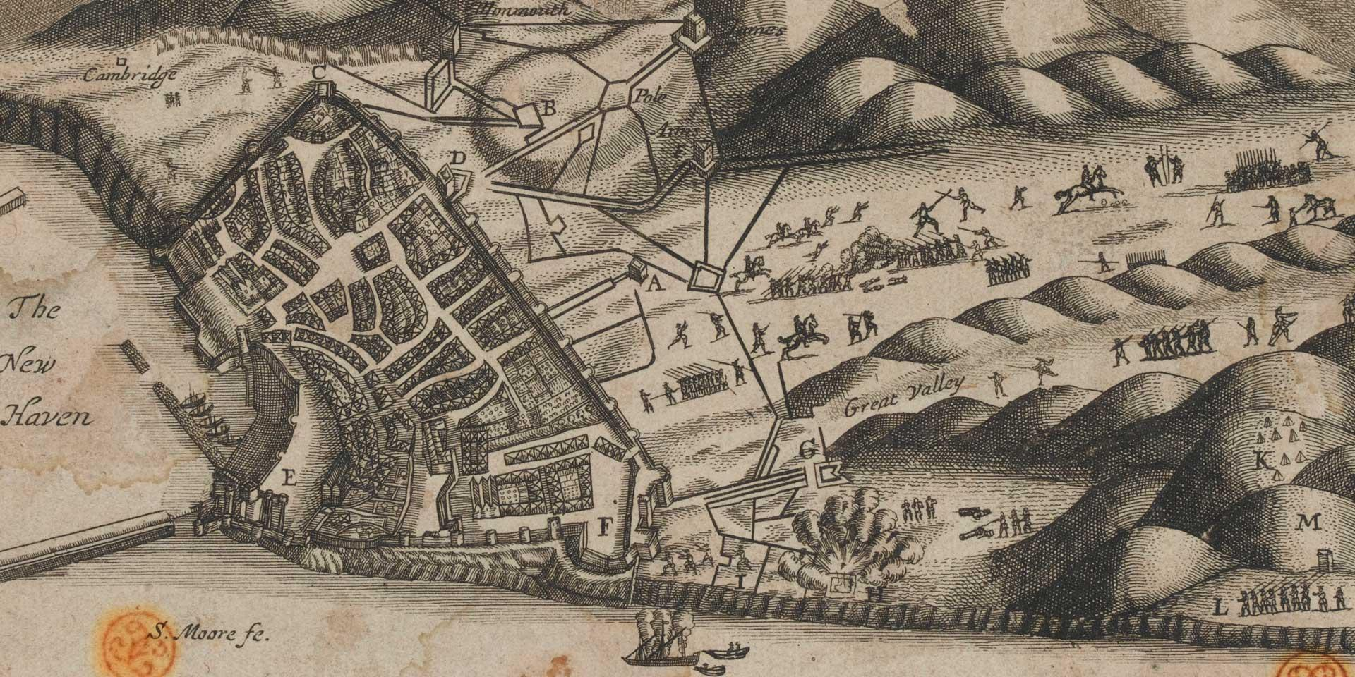 Plan of the fortifications at Tangier, May 1680