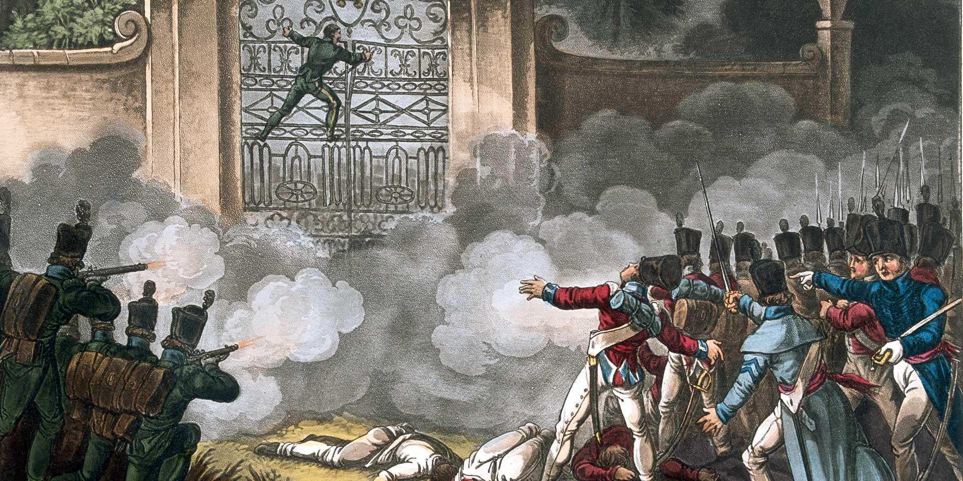 Storming the Bishop's Palace at Badajoz, 6 April 1812