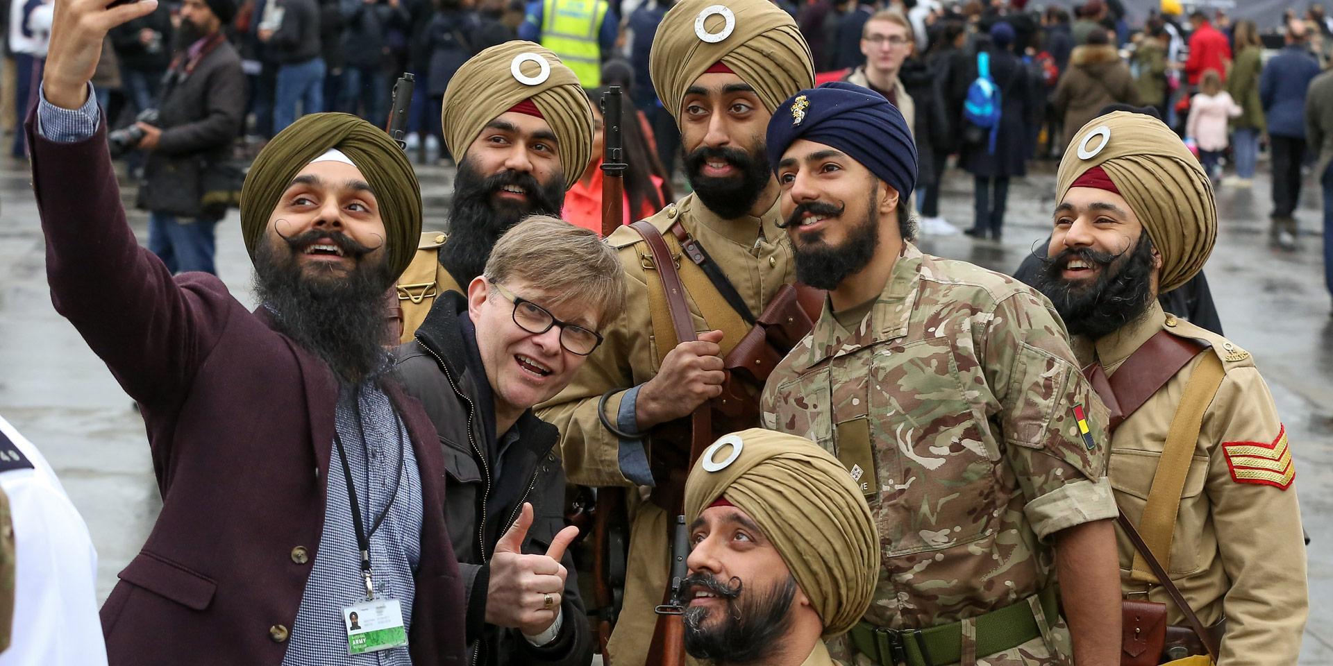 Volunteers recreating the 15th Ludhiana Sikh Regiment