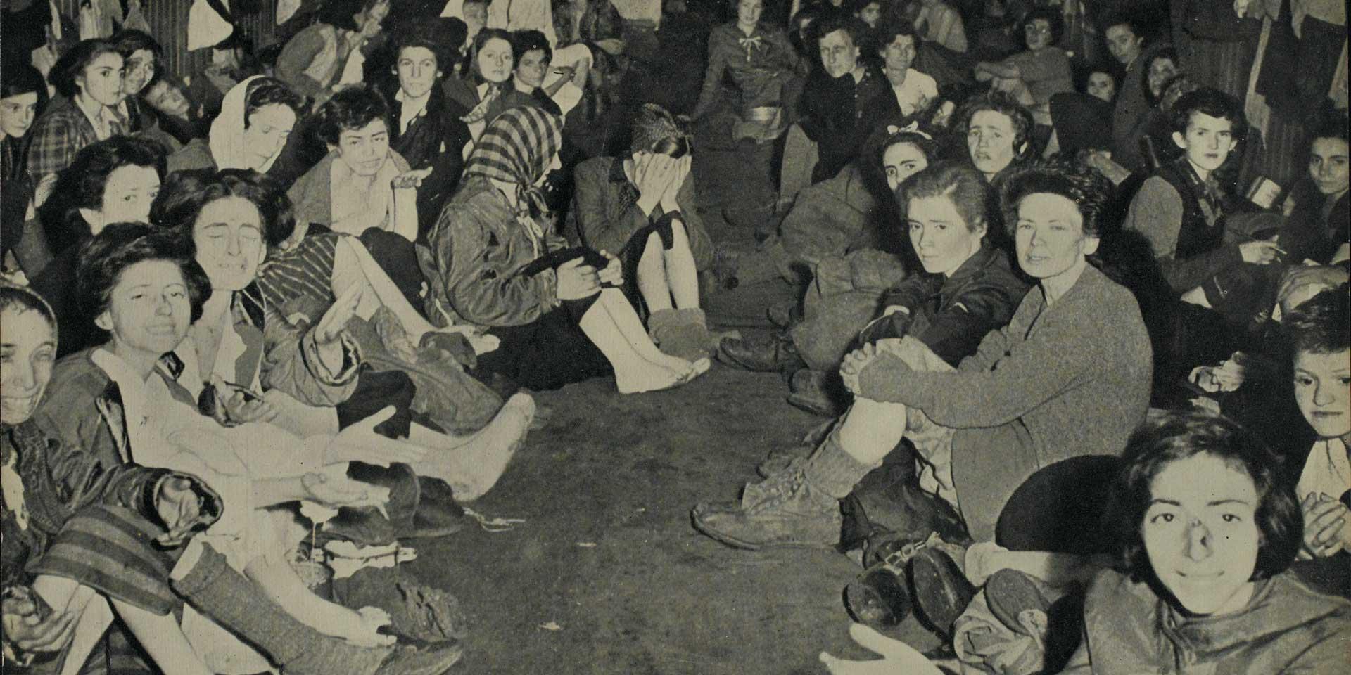 Female prisoners after their liberation, Belsen, April 1945