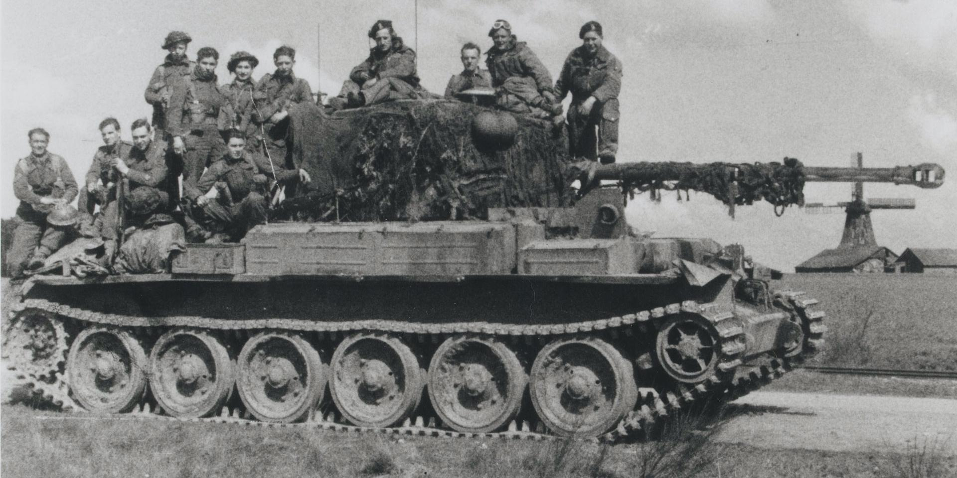 A Challenger tank of 5th/19th King's Royal Hussars, April 1945