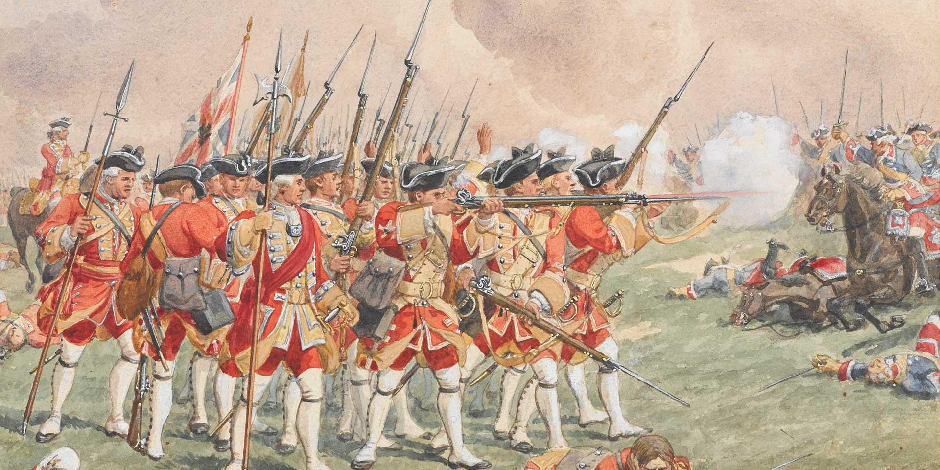 Thomas Howards's Regiment at the Battle of Dettingen, 27 June 1743