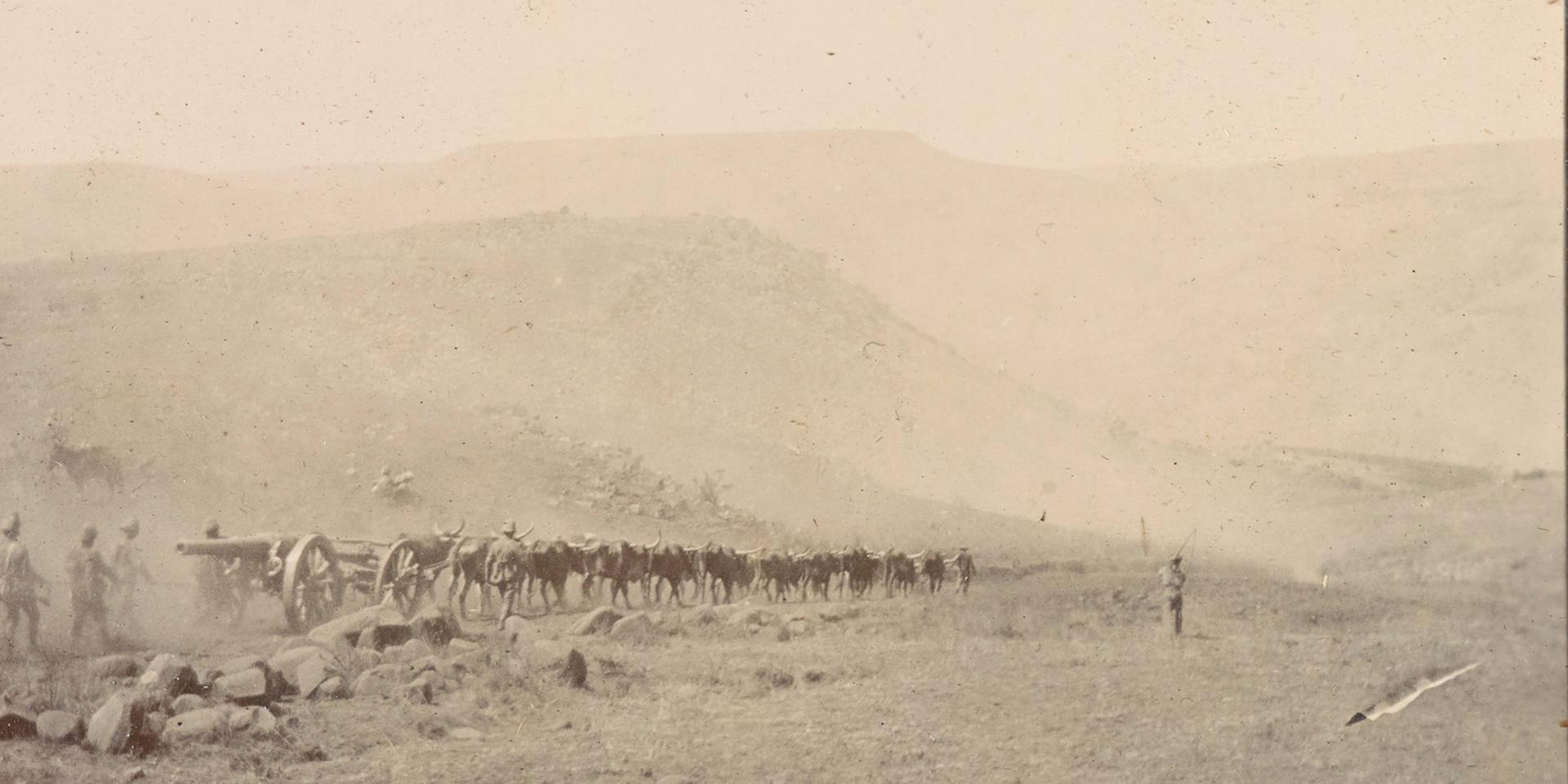 Guns of the Elswick Battery during the advance from Lydenburg to Watervalonder, 1900