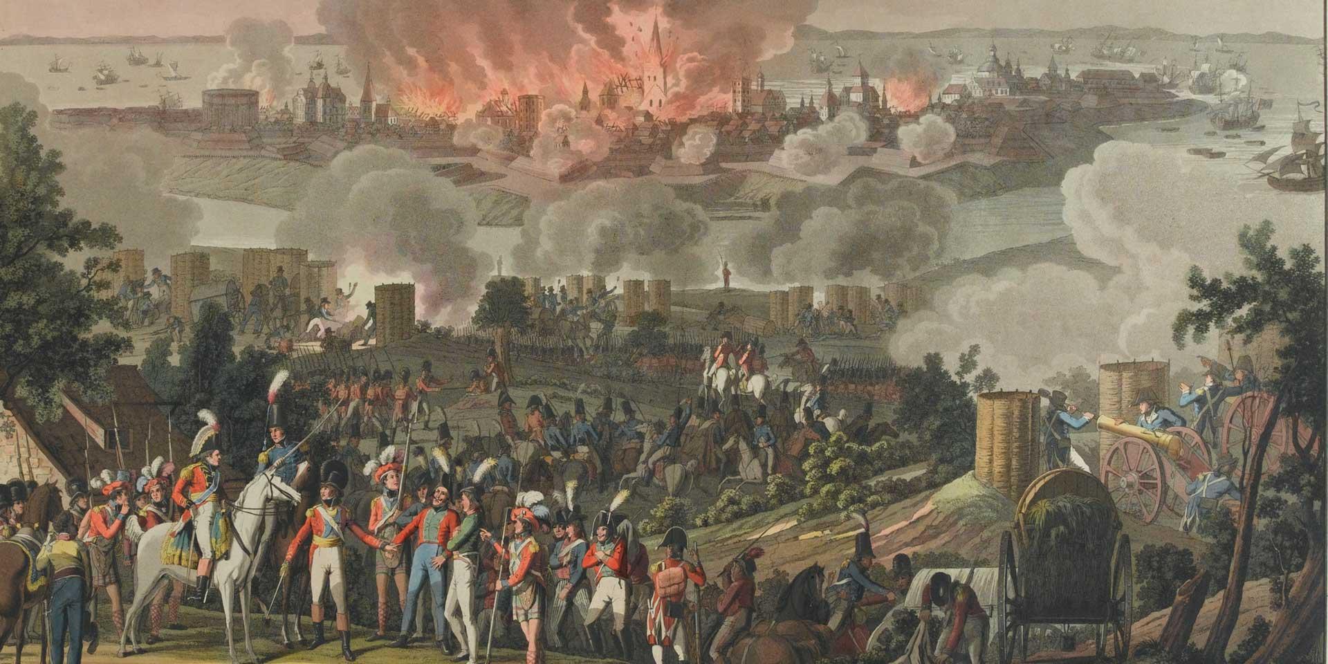 The bombardment of Copenhagen, September 1807